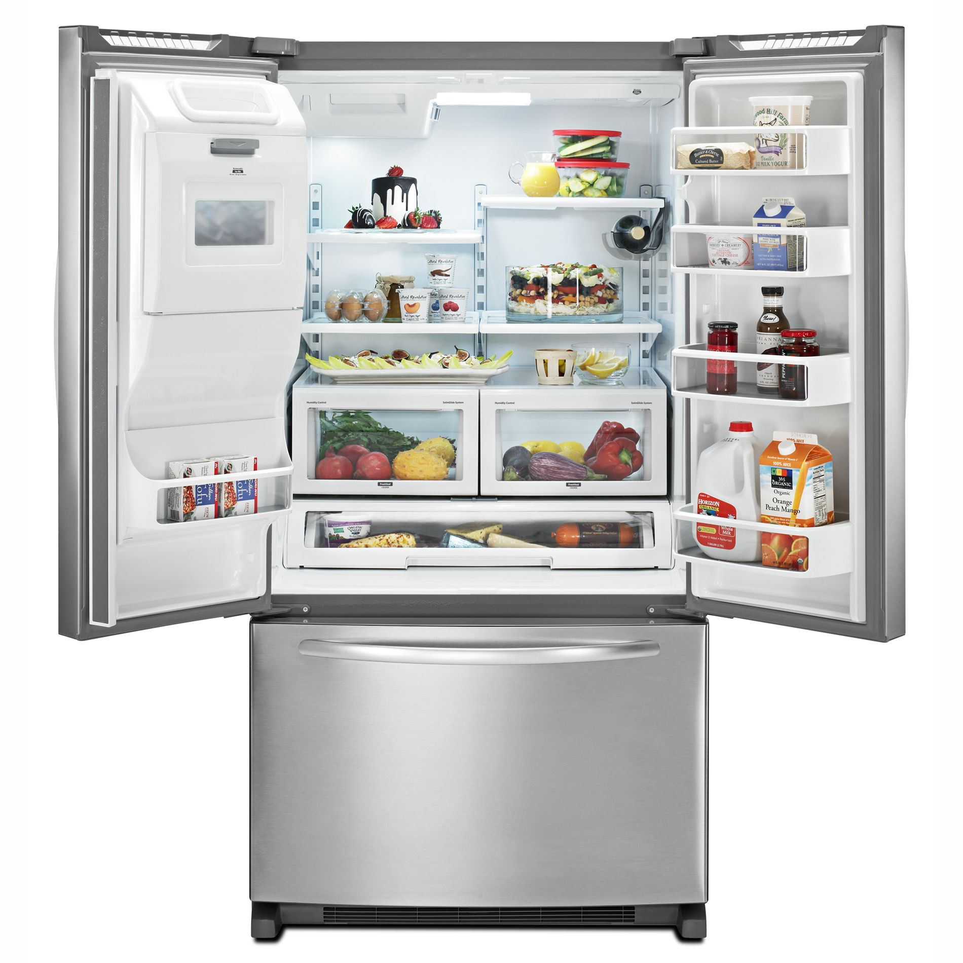 KitchenAid 26.6 cu. ft. French Door Bottom Freezer Refrigerator w/ Dispenser