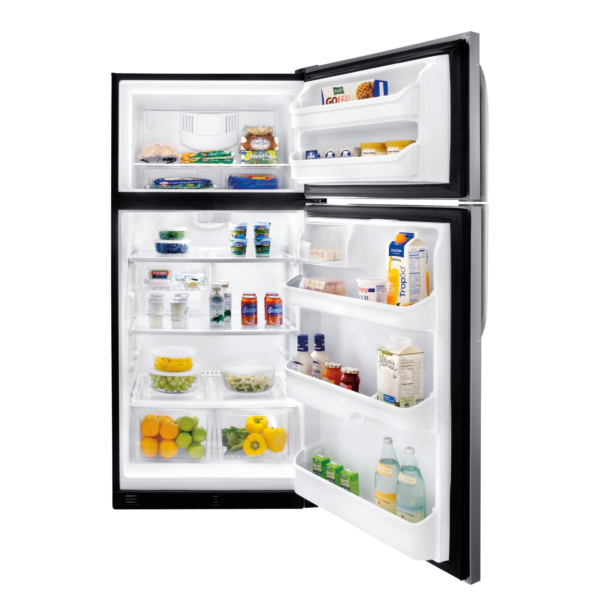 A well-known brand 18.2 cu. ft. Top Freezer Refrigerator