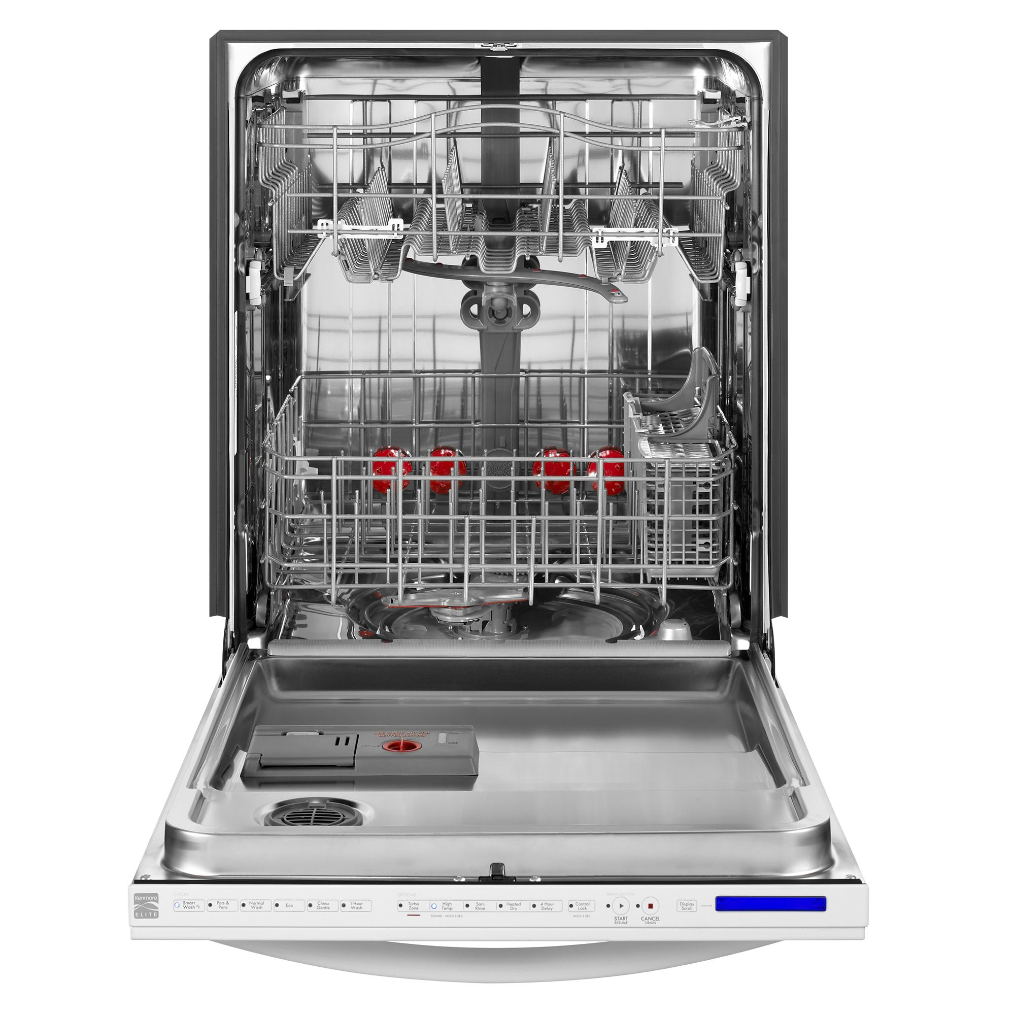 "Kenmore Elite 24"" Elite Dishwasher 360 Degree PowerWash - White"