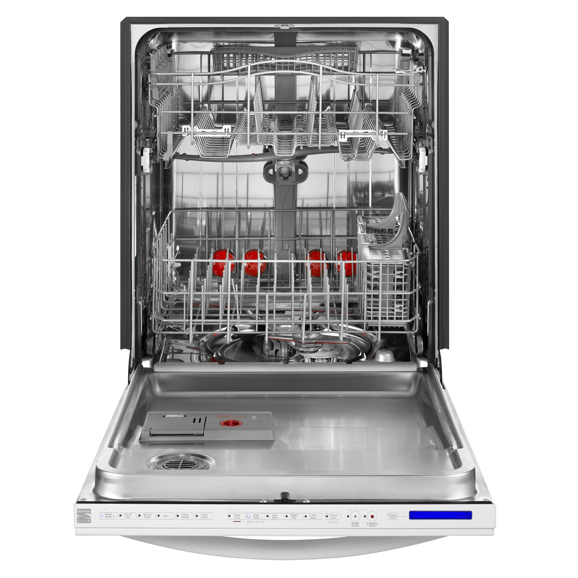 "Kenmore Elite 24"" Built-In Dishwasher w/ 360° PowerWash™ Technology - White"