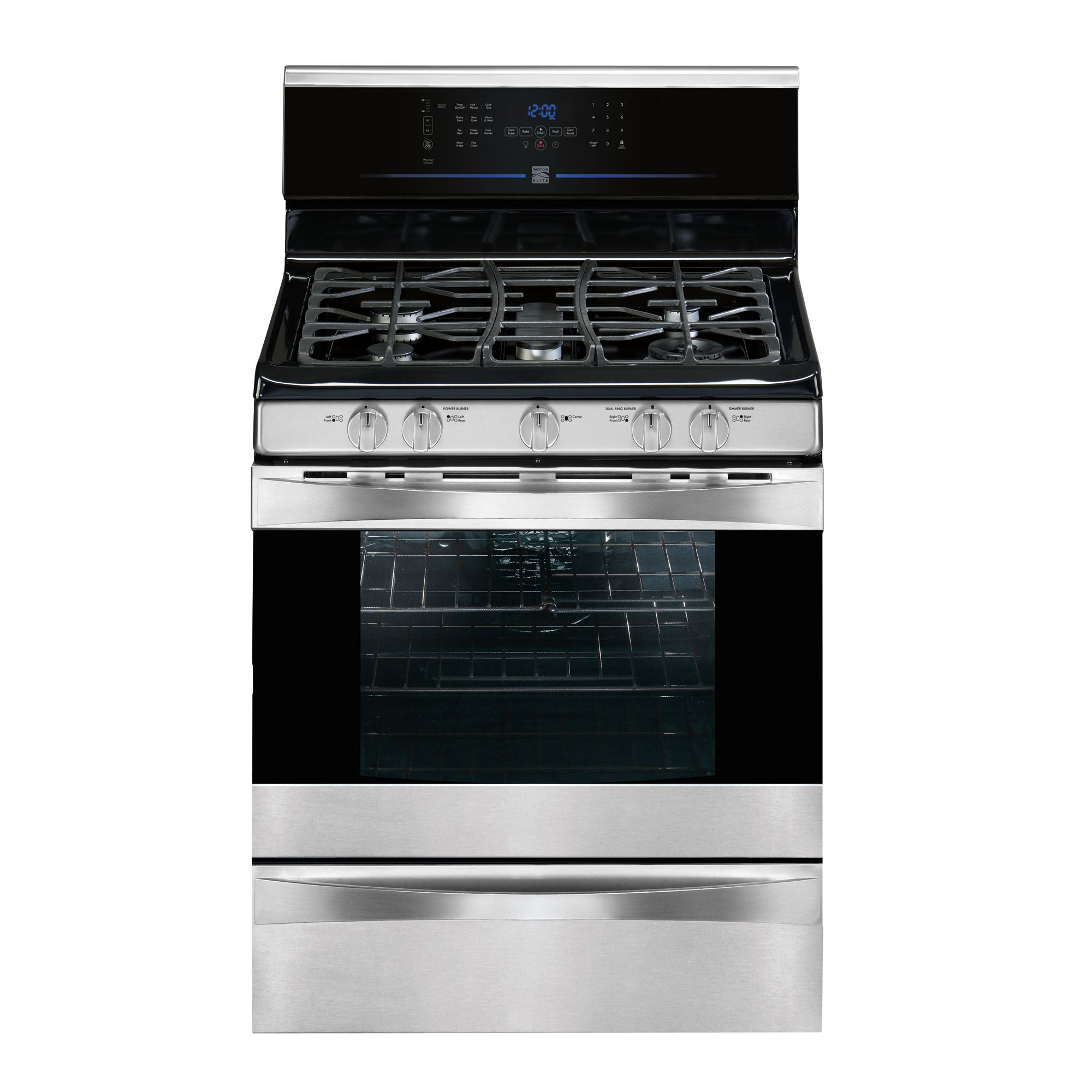 Kenmore Elite 5.1 cu. ft. Freestanding Gas Range - Stainless Steel