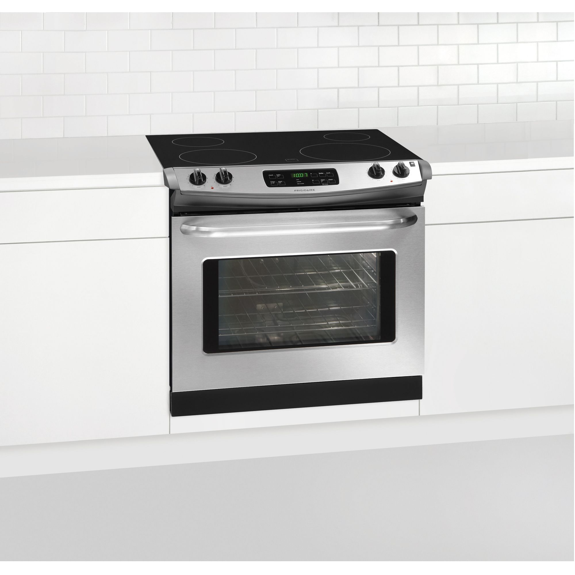 frigidaire 30 self clean drop in electric range stove stainless steel ebay. Black Bedroom Furniture Sets. Home Design Ideas