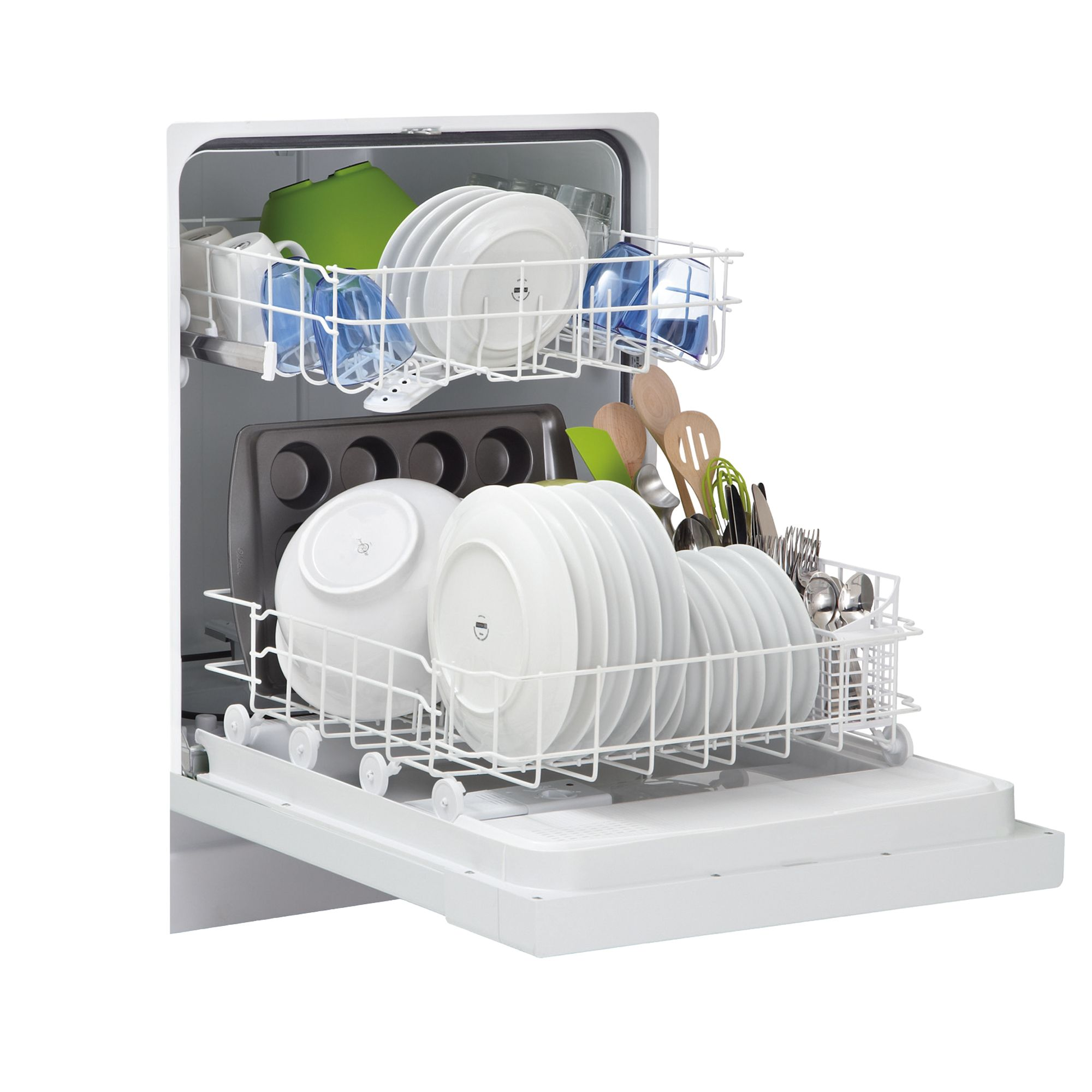 "Frigidaire FBD2400KW 24"" White Built-In Dishwasher - White"