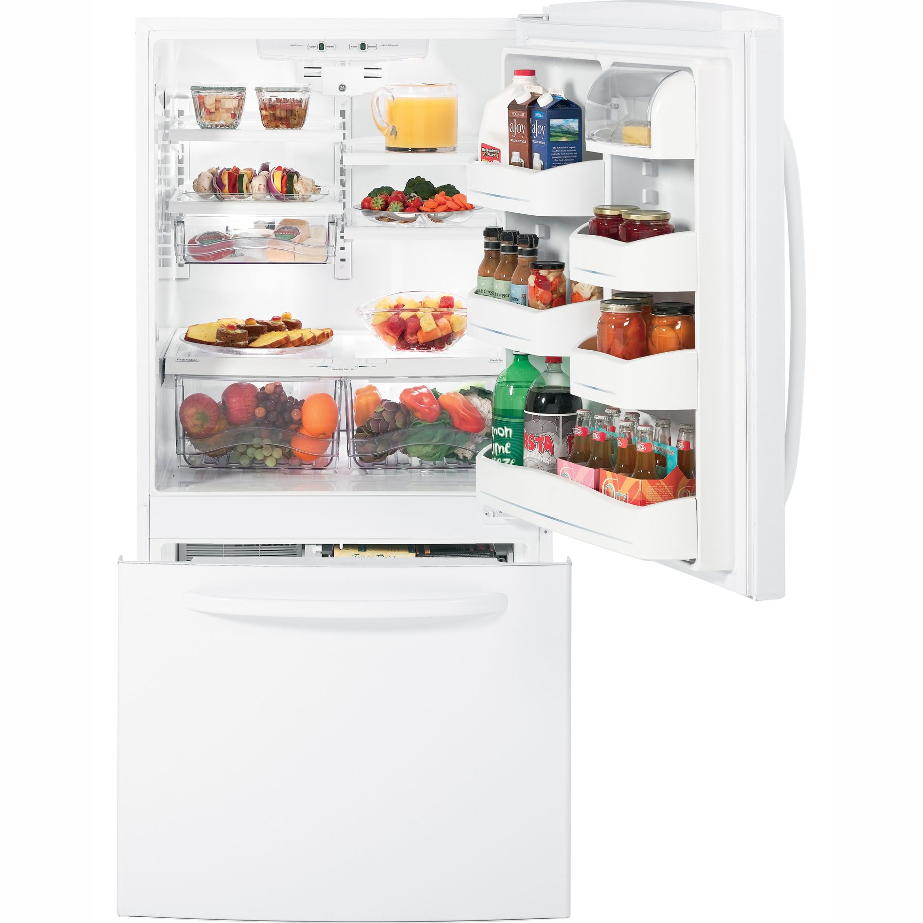GE 22.7 cu. ft. Bottom Freezer Refrigerator (GDSC3KCY)
