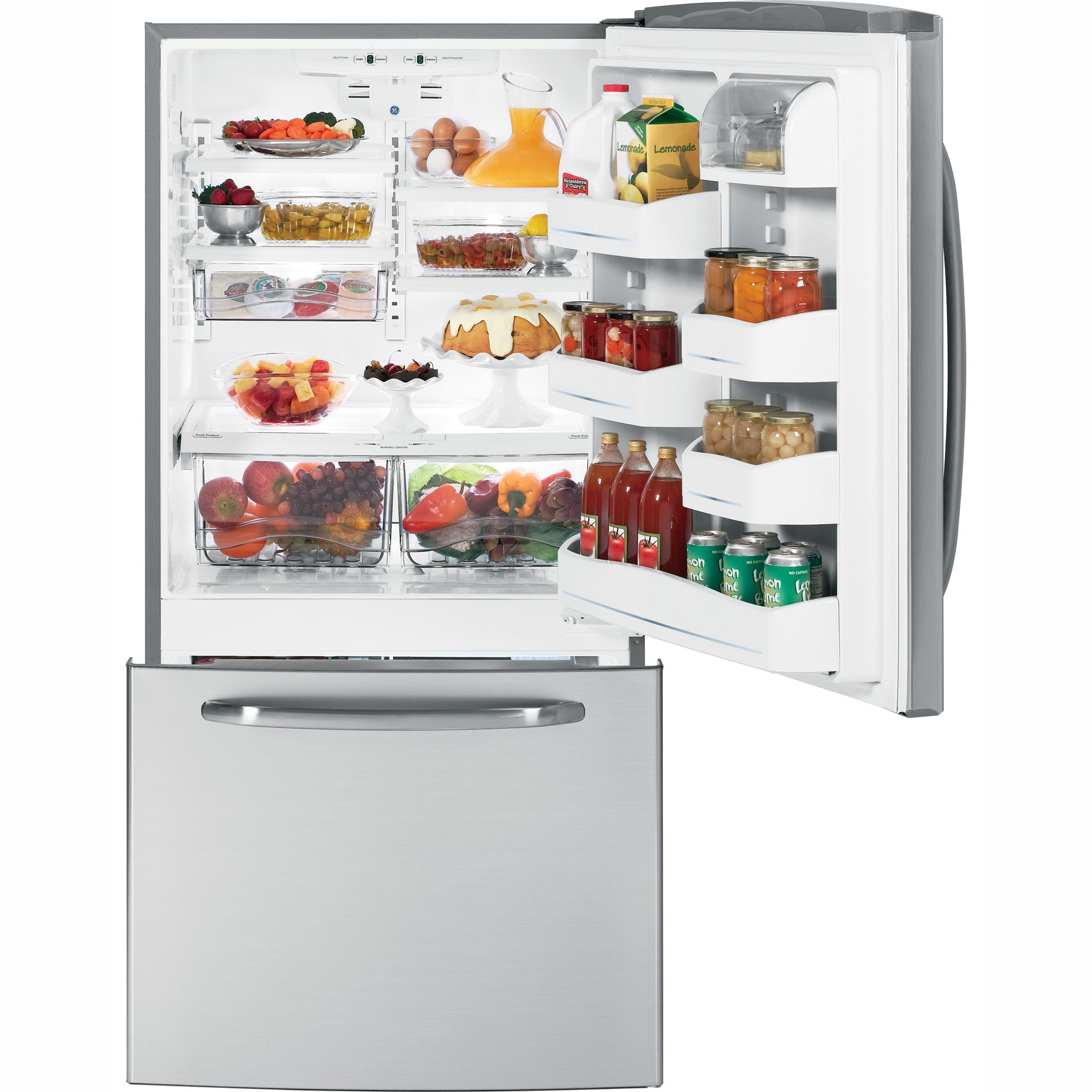GE 22.7 cu. ft. Bottom Freezer Refrigerator (GDSL3KCY)