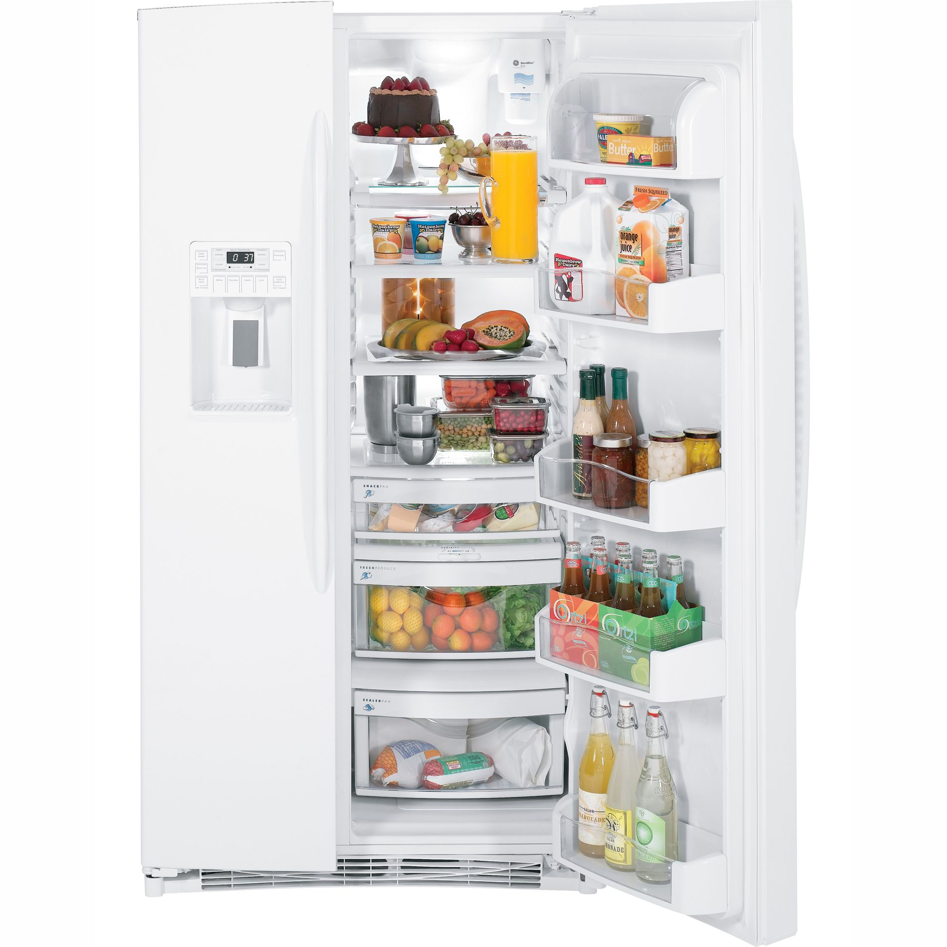 GE Profile Profile™ Series 25.9 cu. ft. Side-By-Side Refrigerator
