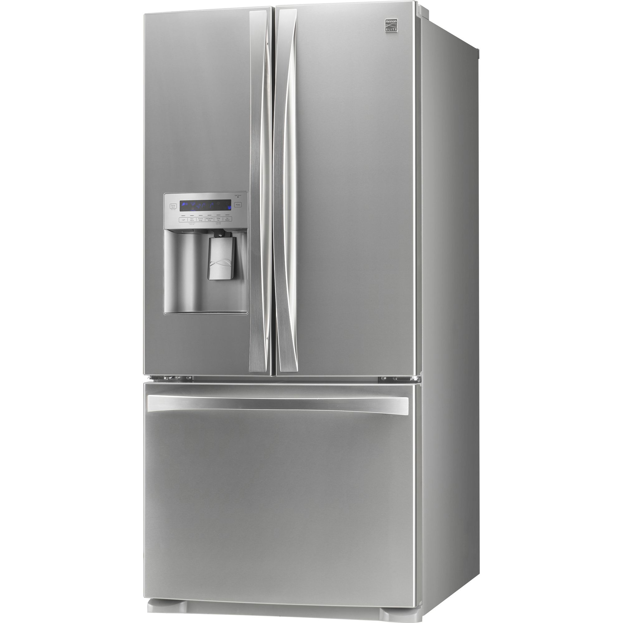 Kenmore Elite 25.0 cu. ft. French-Door Bottom-Freezer Refrigerator - Stainless Steel