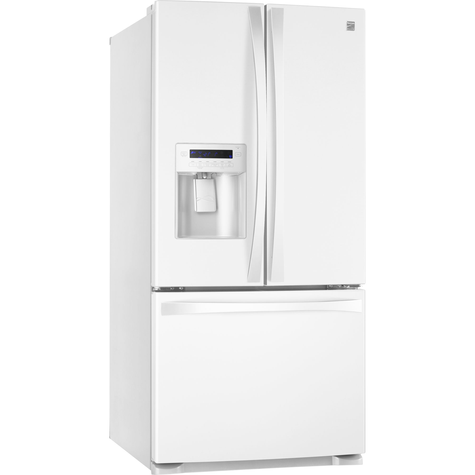 Kenmore Elite 25.0 cu. ft. French-Door Bottom-Freezer Refrigerator - White