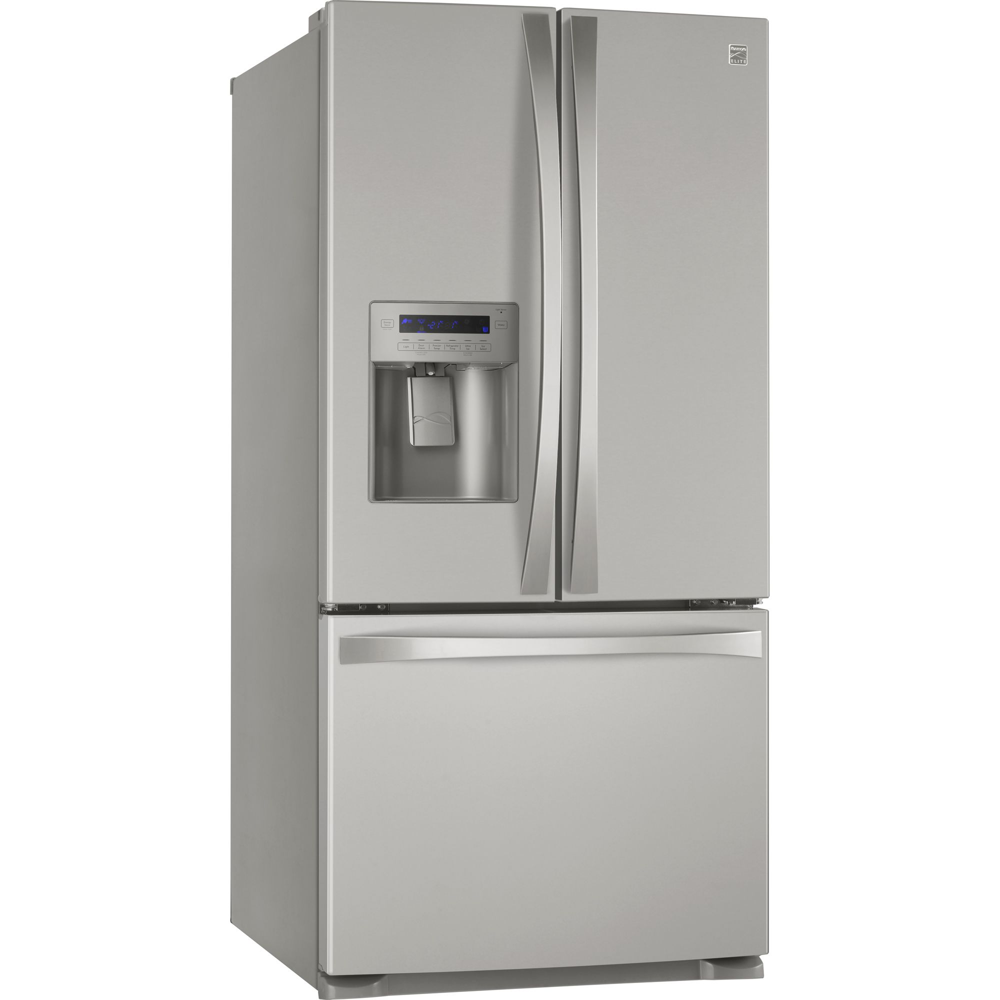 Kenmore Elite 25.0 cu. ft. French-Door Bottom-Freezer Refrigerator - Metallic