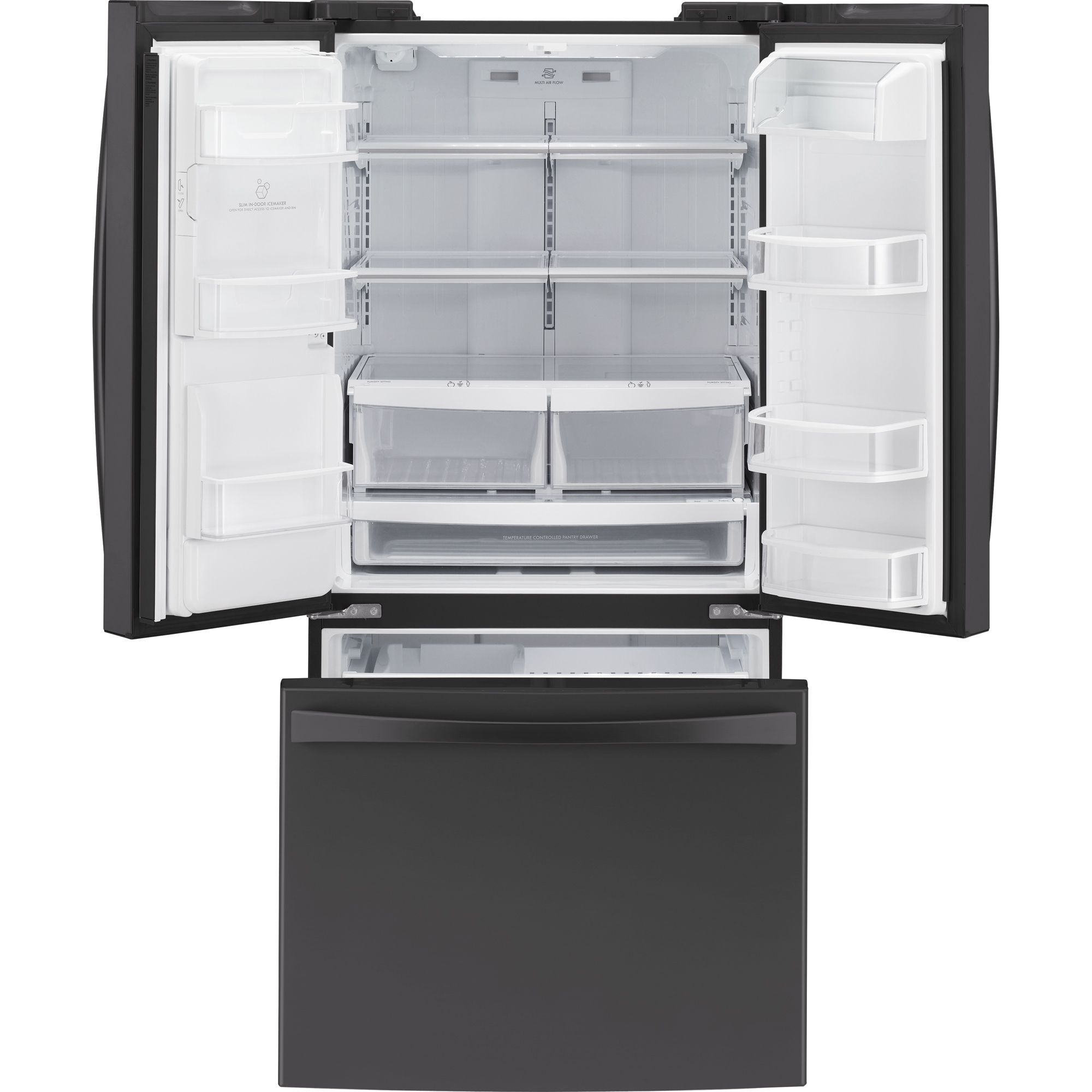 Kenmore Elite 25.0 cu. ft. French-Door Bottom-Freezer Refrigerator - Black
