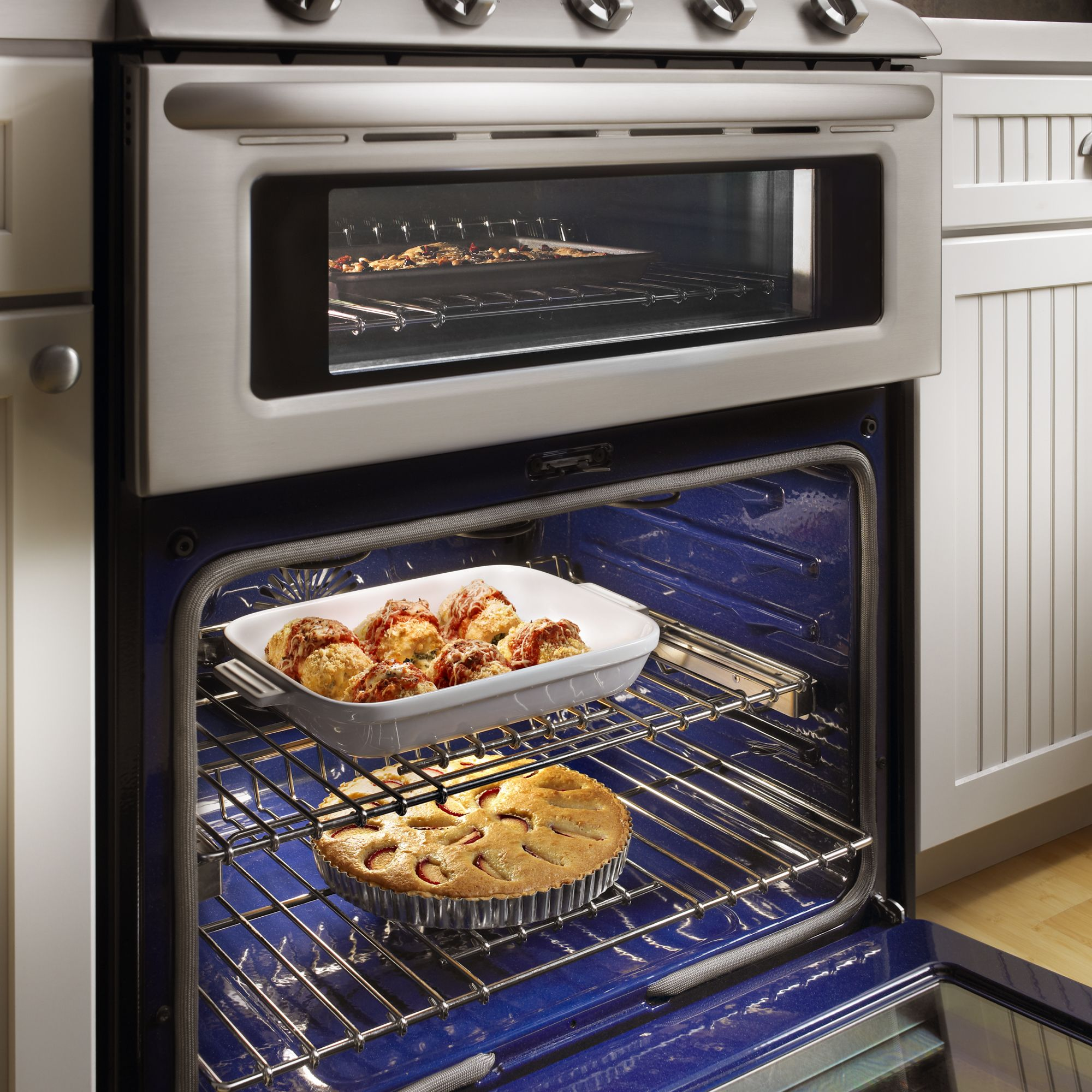 "KitchenAid 30"" Double Oven Freestanding Dual-Fuel Range"