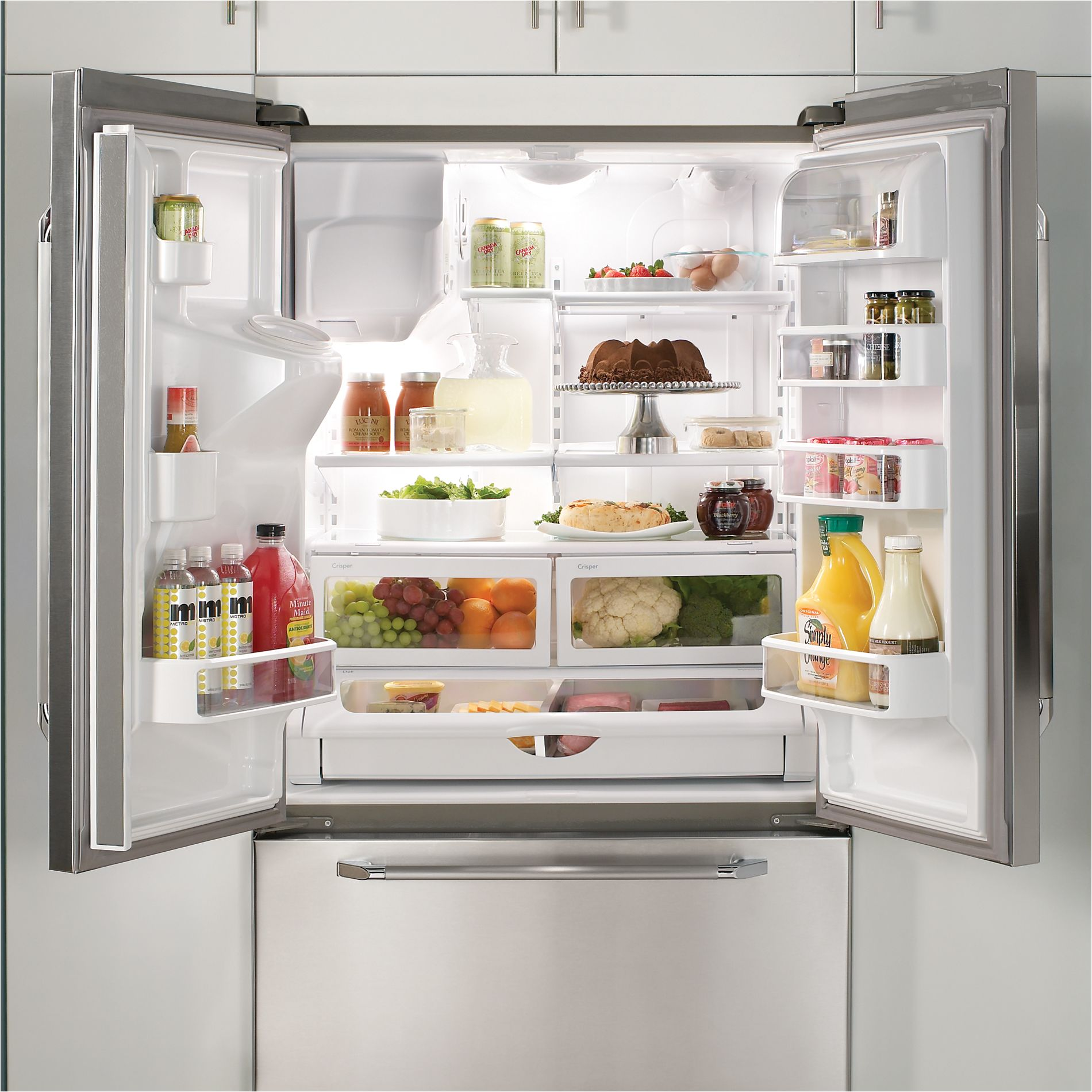 Dacor Renaissance 19.9 cu. ft. Counter-Depth French-Door Refrigerator - Stainless Steel