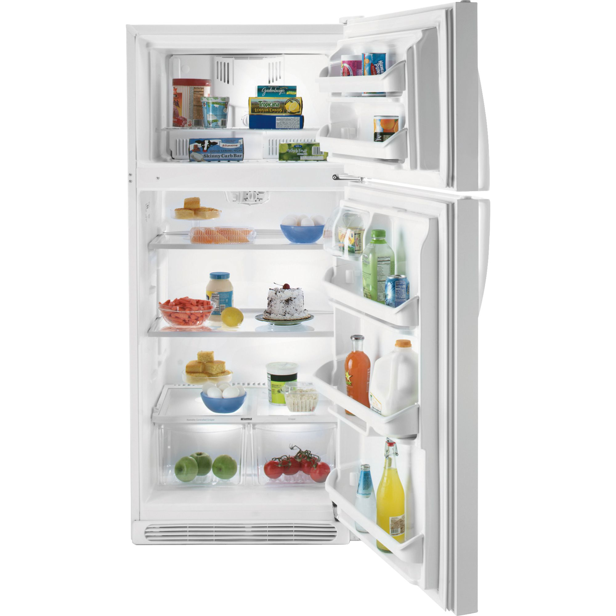 Kenmore 18.2 cu. ft. Top-Freezer Refrigerator w/ Glass Shelves -  White