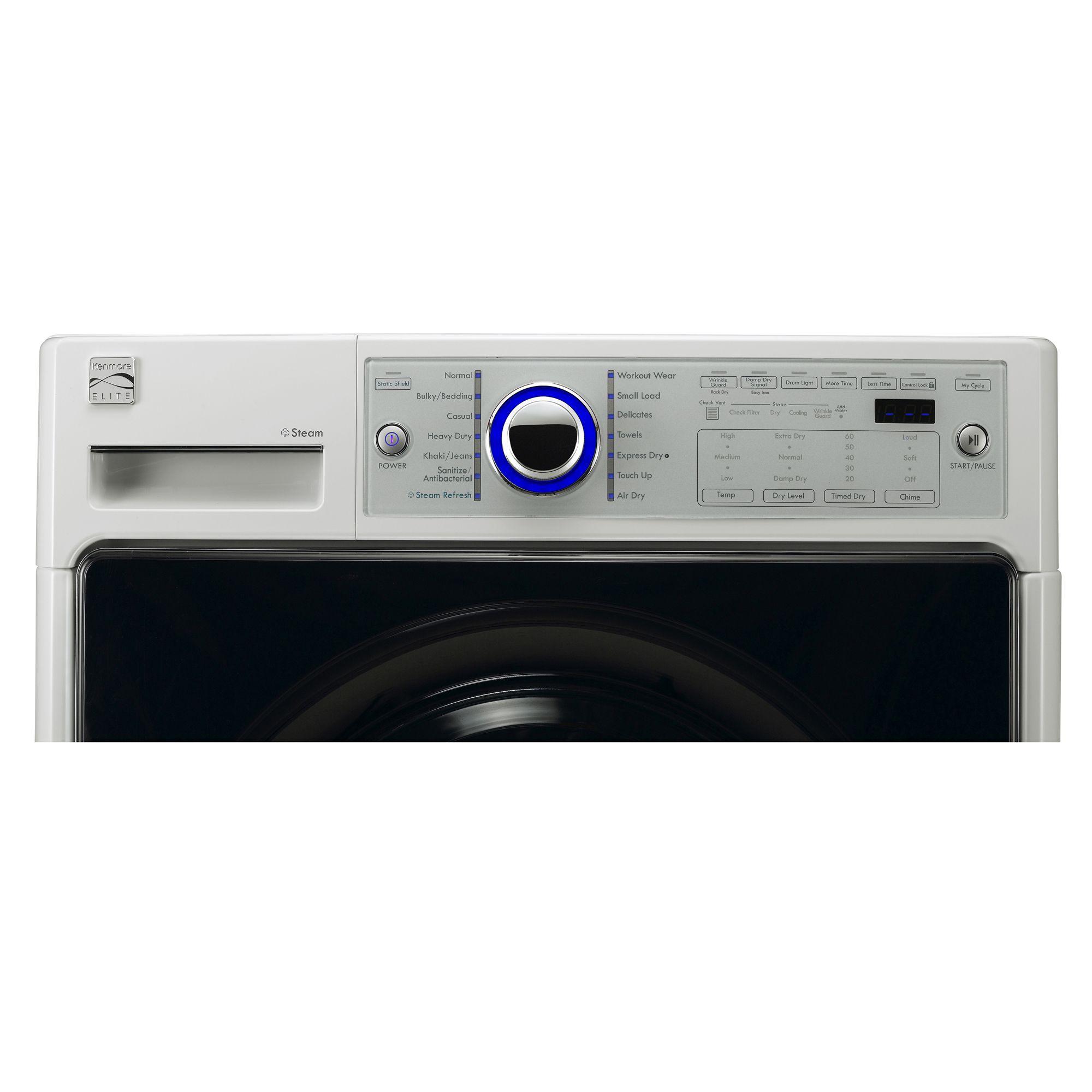 Kenmore Elite Elite 7.4 cu. ft. Gas Steam Dryer - White