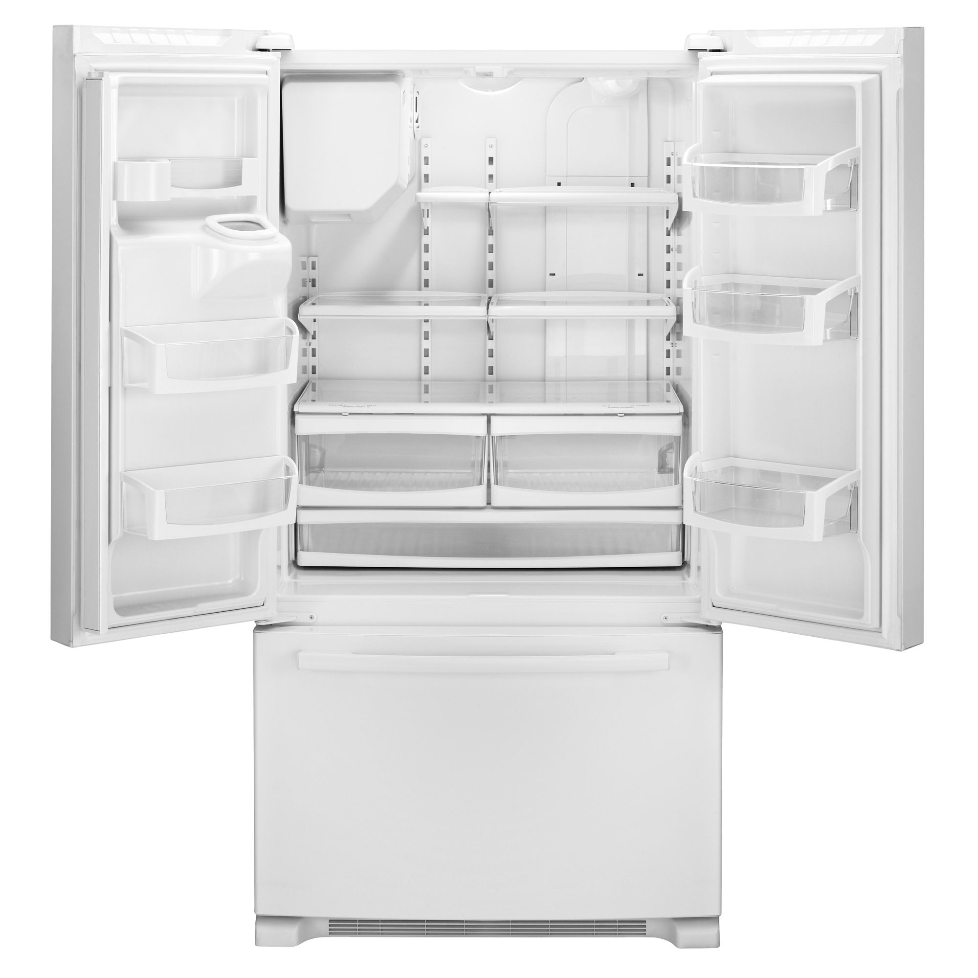 Whirlpool Gold 25.5 cu. ft. French Door Bottom Freezer Refrigerator - White