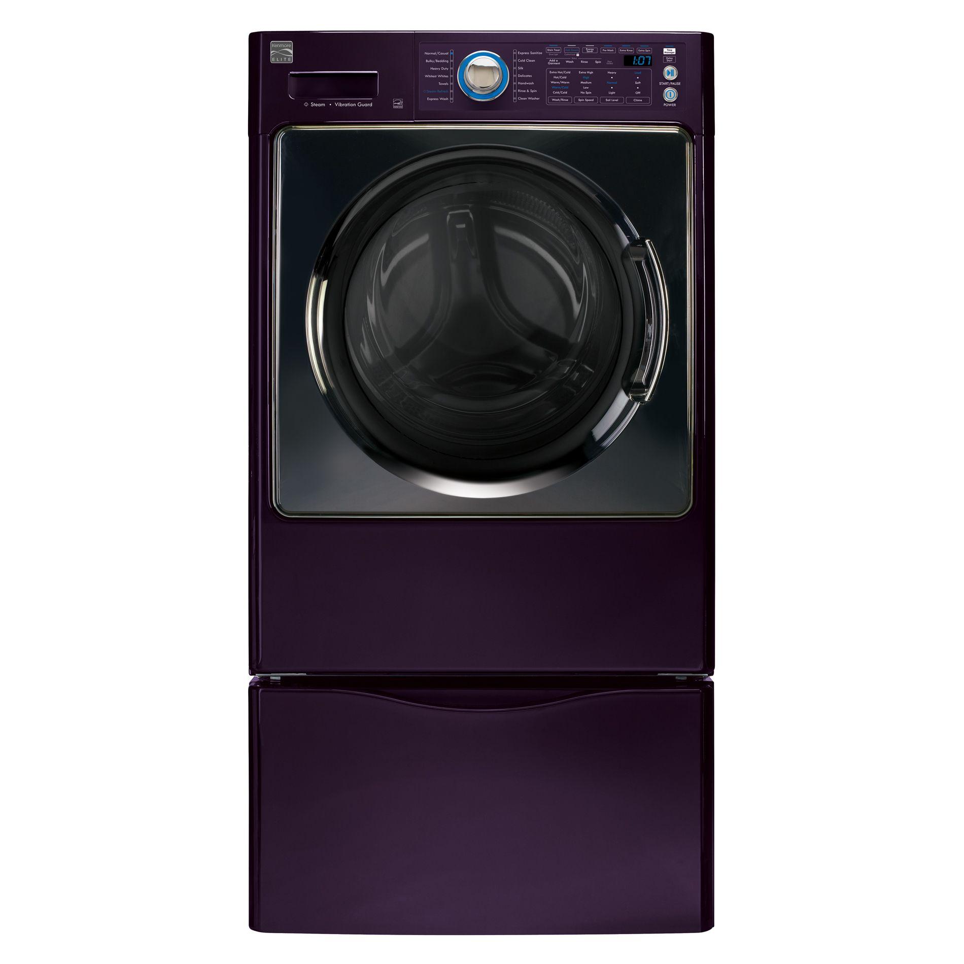 Kenmore Elite 4.3 cu. ft. Steam Front-Load Washer w/ Reversible Door - Blackberry