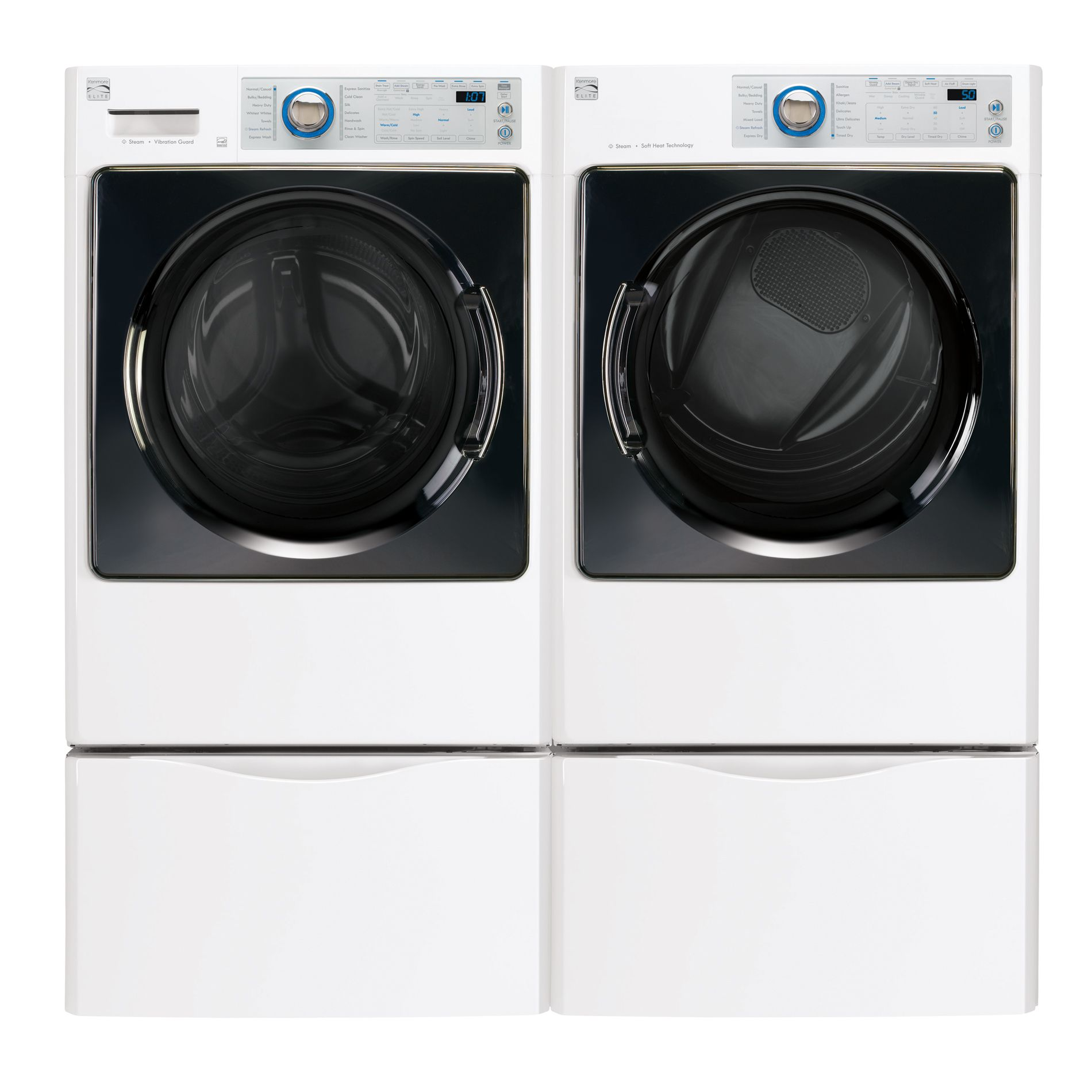 Kenmore Elite 4.3 cu. ft. Steam Front-Load Washer w/ Reversible Door - White