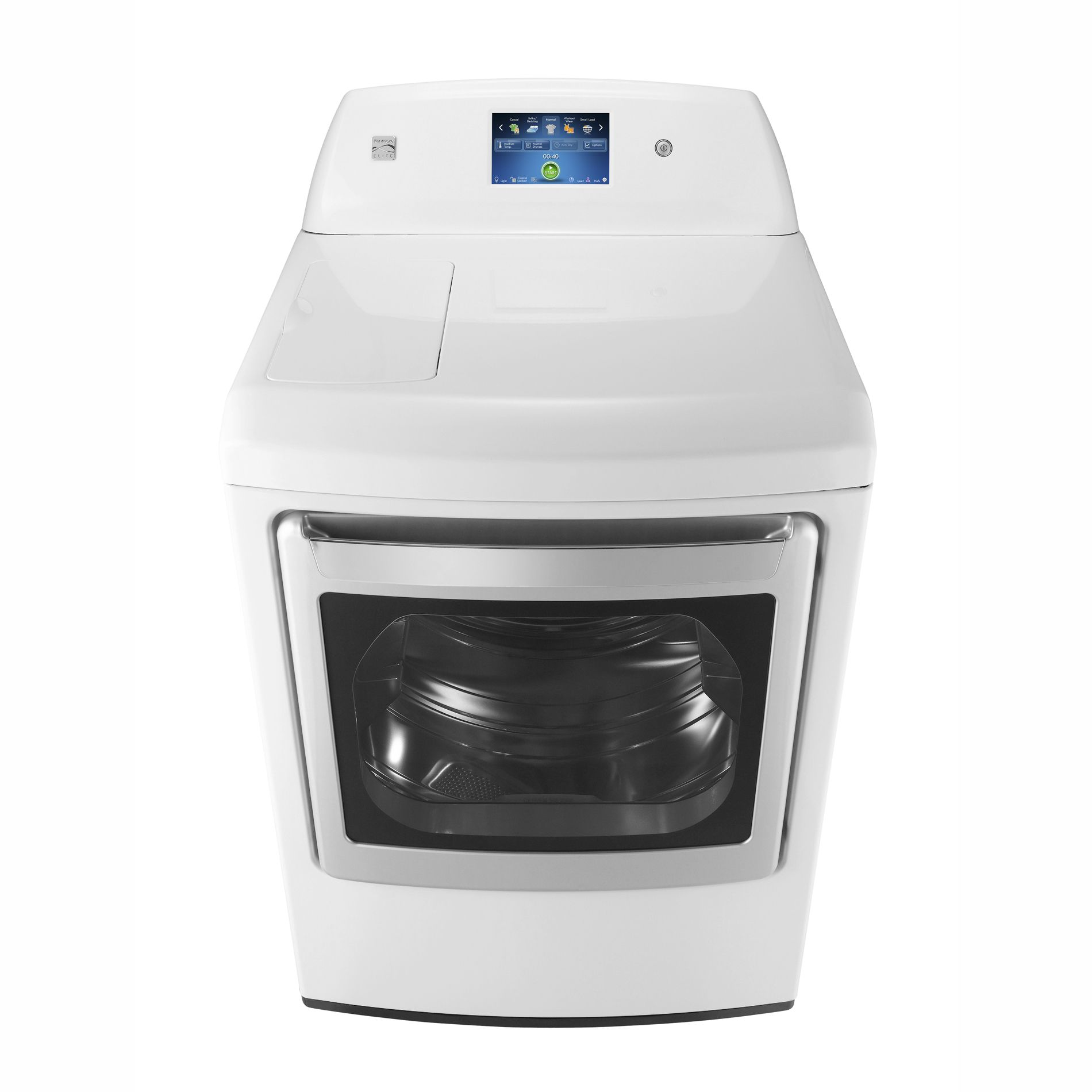 Kenmore Elite 7.3 cu. ft. Gas Steam Dryer w/ LCD ColorTouch Display - White