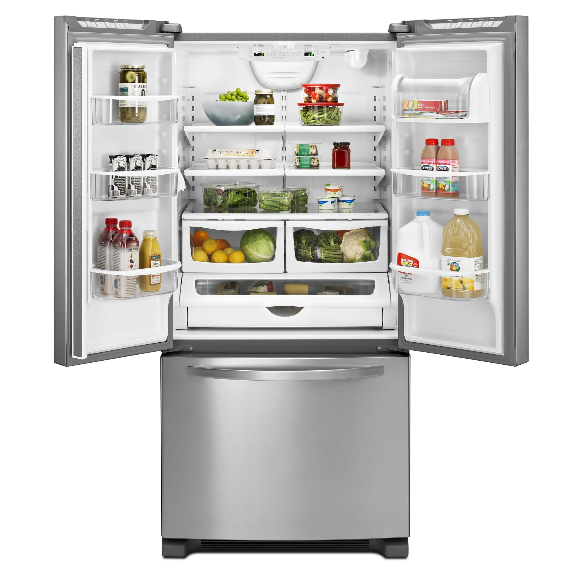 Kenmore 22 cu. ft. French-Door Bottom-Freezer Refrigerator w/Internal Dispenser - Stainless Steel