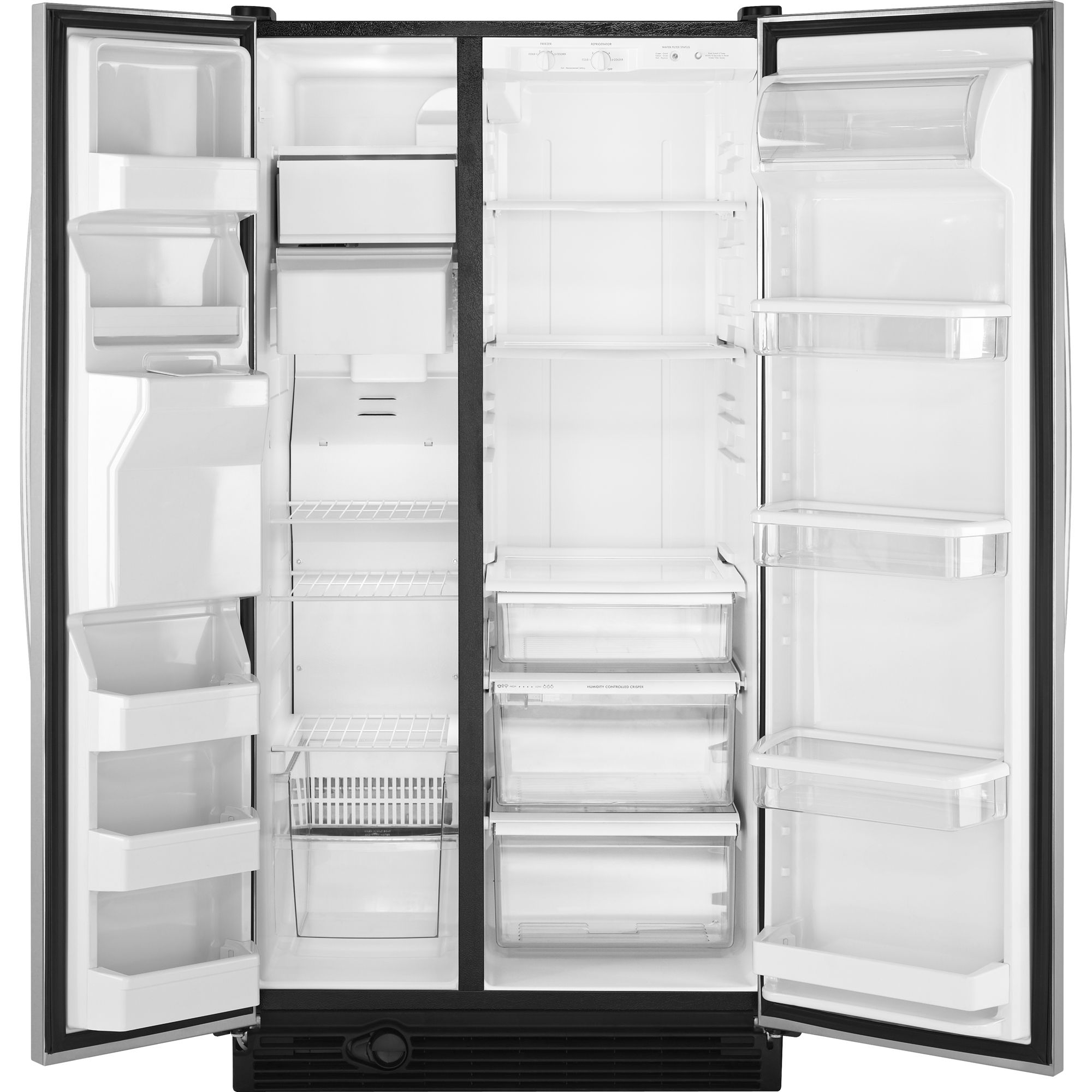 Kenmore 25.1 cu. ft. Side-by-Side Refrigerator w/ Ice & Water Dispenser - Stainless Steel