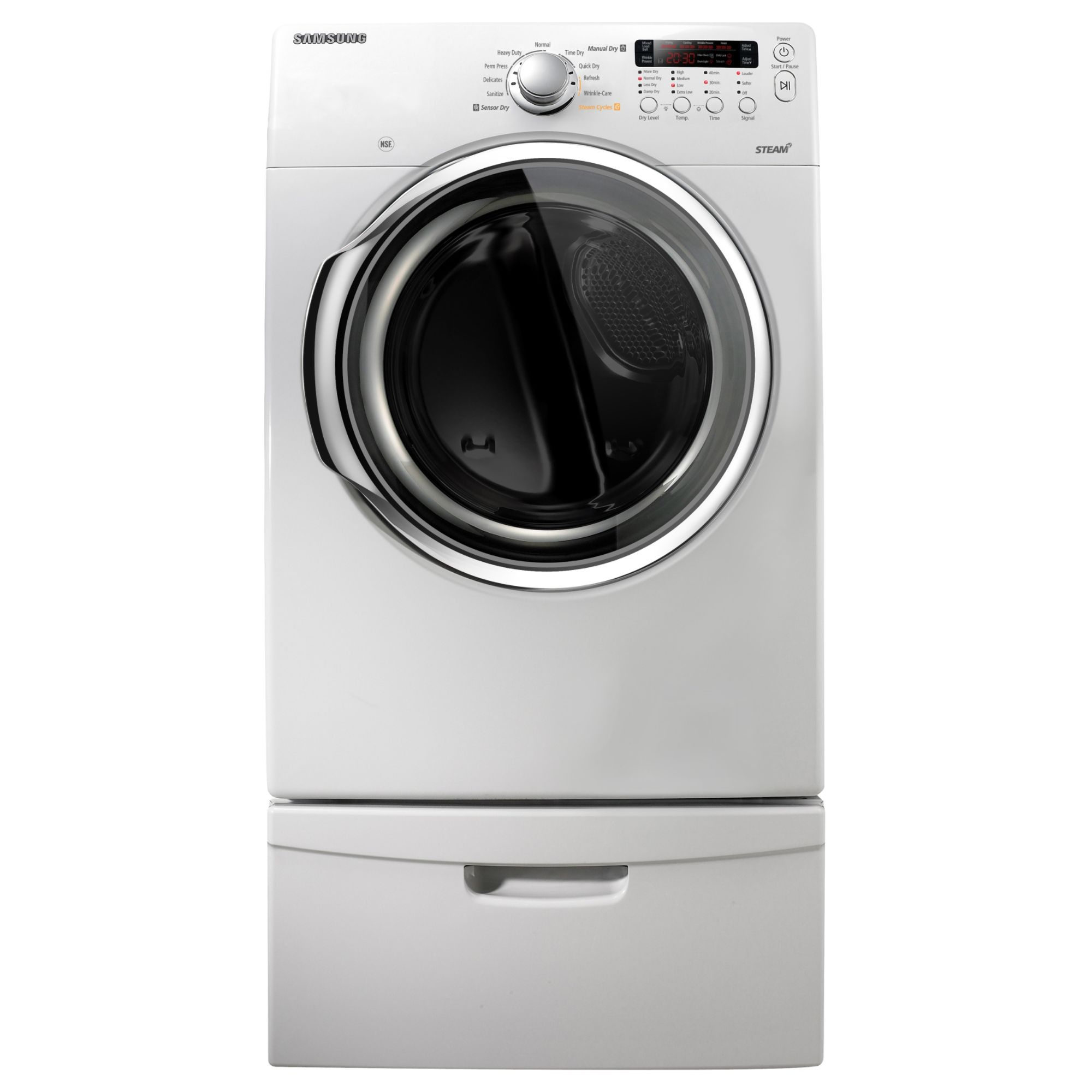 Samsung 7.3 cu. ft. Electric Steam Dryer White