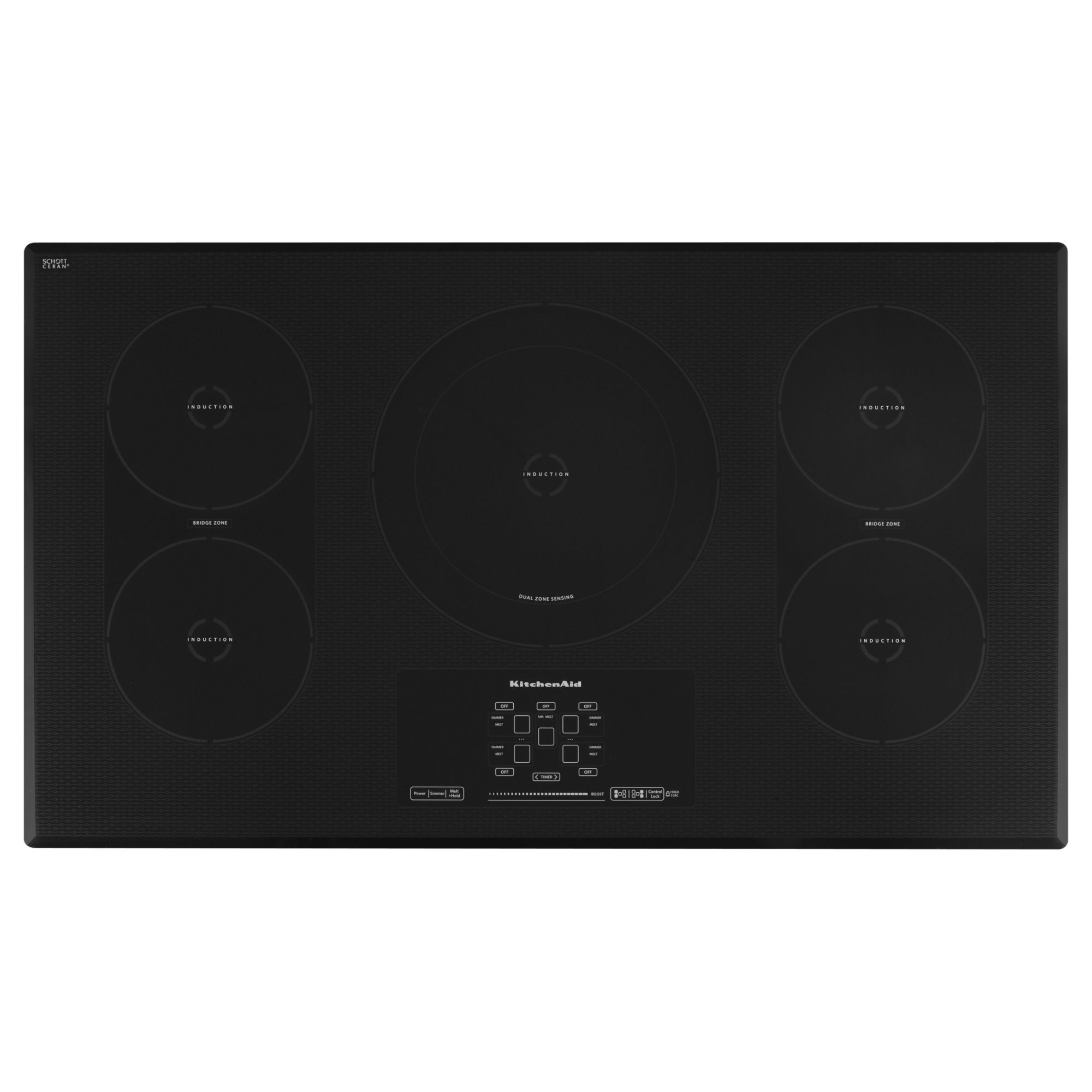 KitchenAid KICU569XBL 36 Electric Induction Cooktop