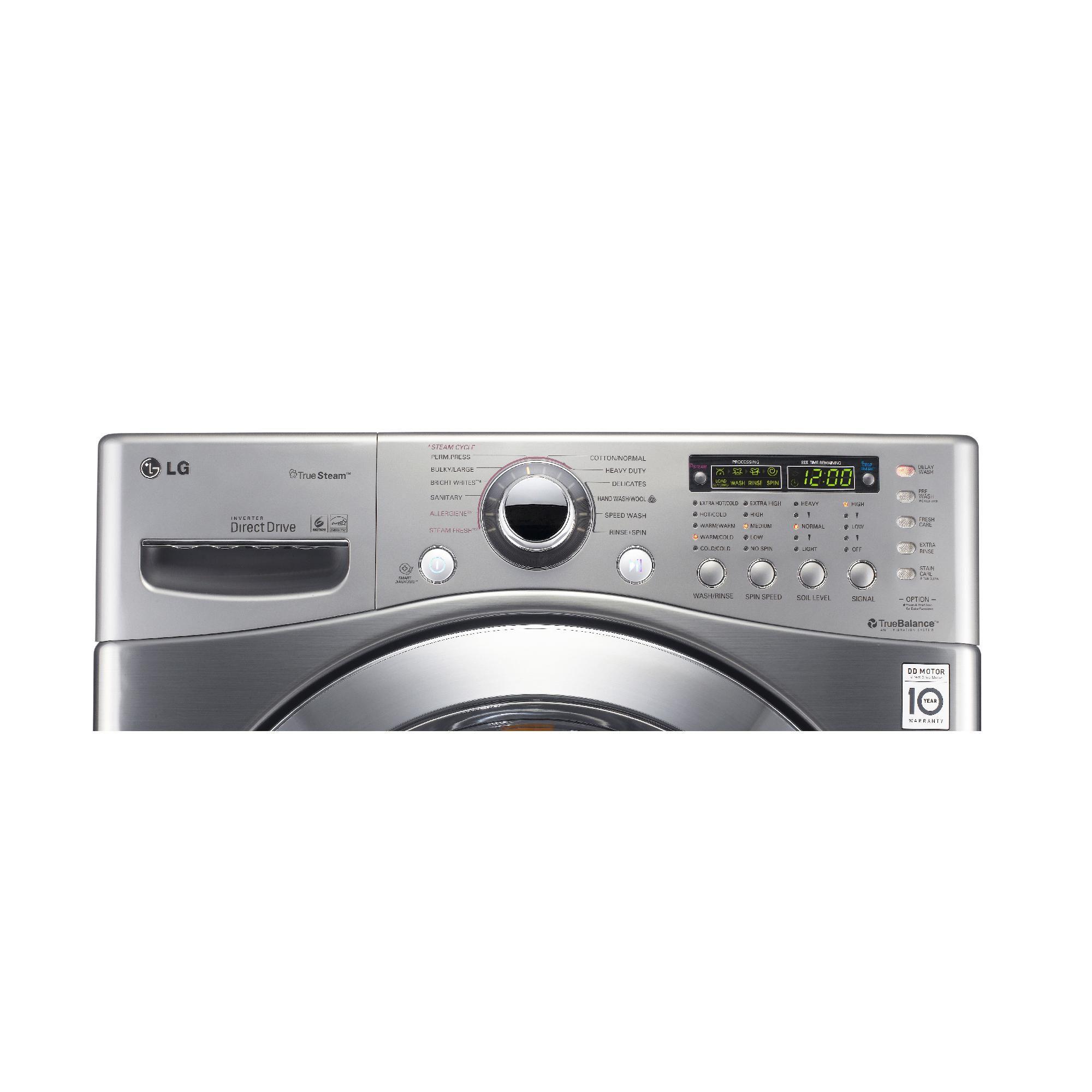 LG 3.9 cu. ft. Front-Load Washer, Metallic (Model WM3360HVCA)