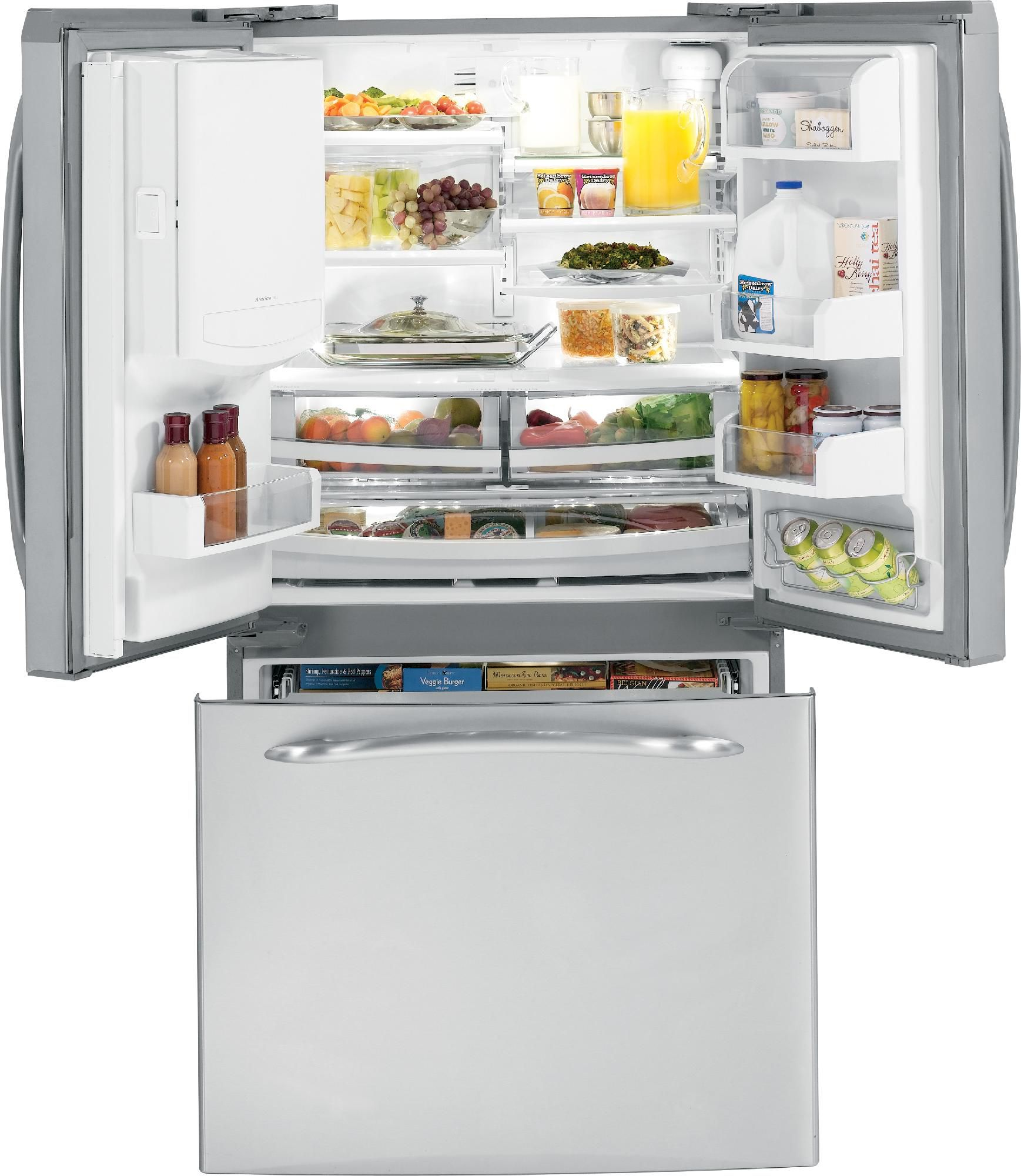 GE 25.1 cu. ft. French Door Bottom-Freezer Refrigerator