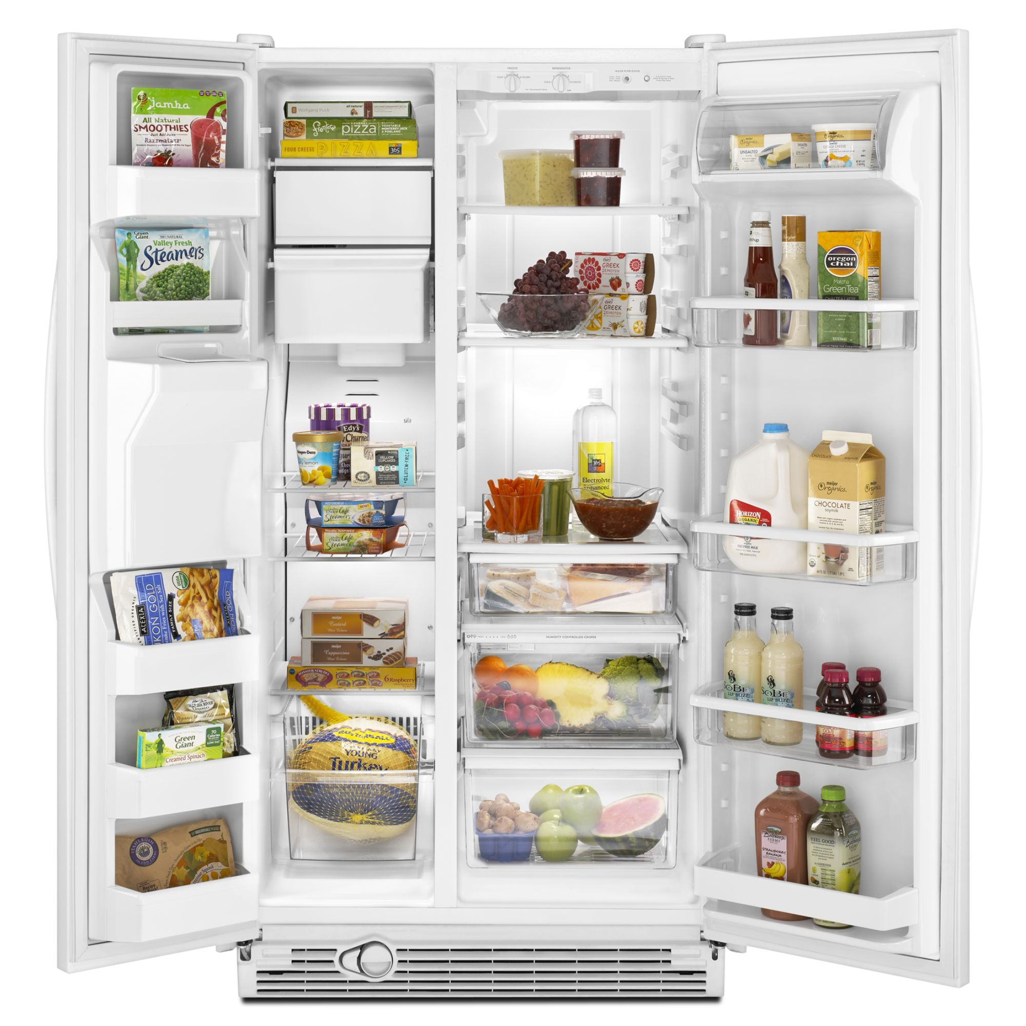 Kenmore 25.1 cu. ft. Side-by-Side Refrigerator w/ Ice & Water Dispenser - White