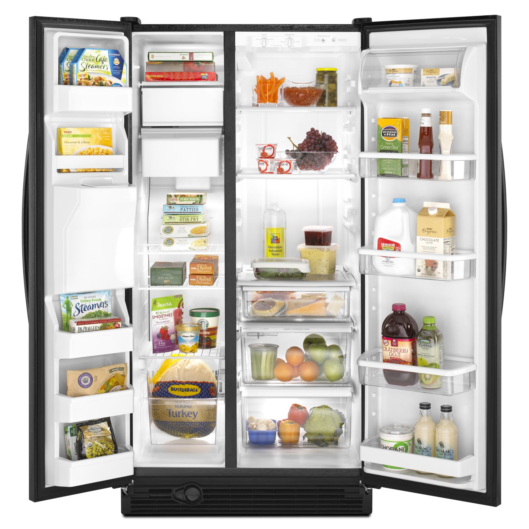 Kenmore 25.1 cu. ft. Side-by-Side Refrigerator w/ Ice & Water Dispenser - Black