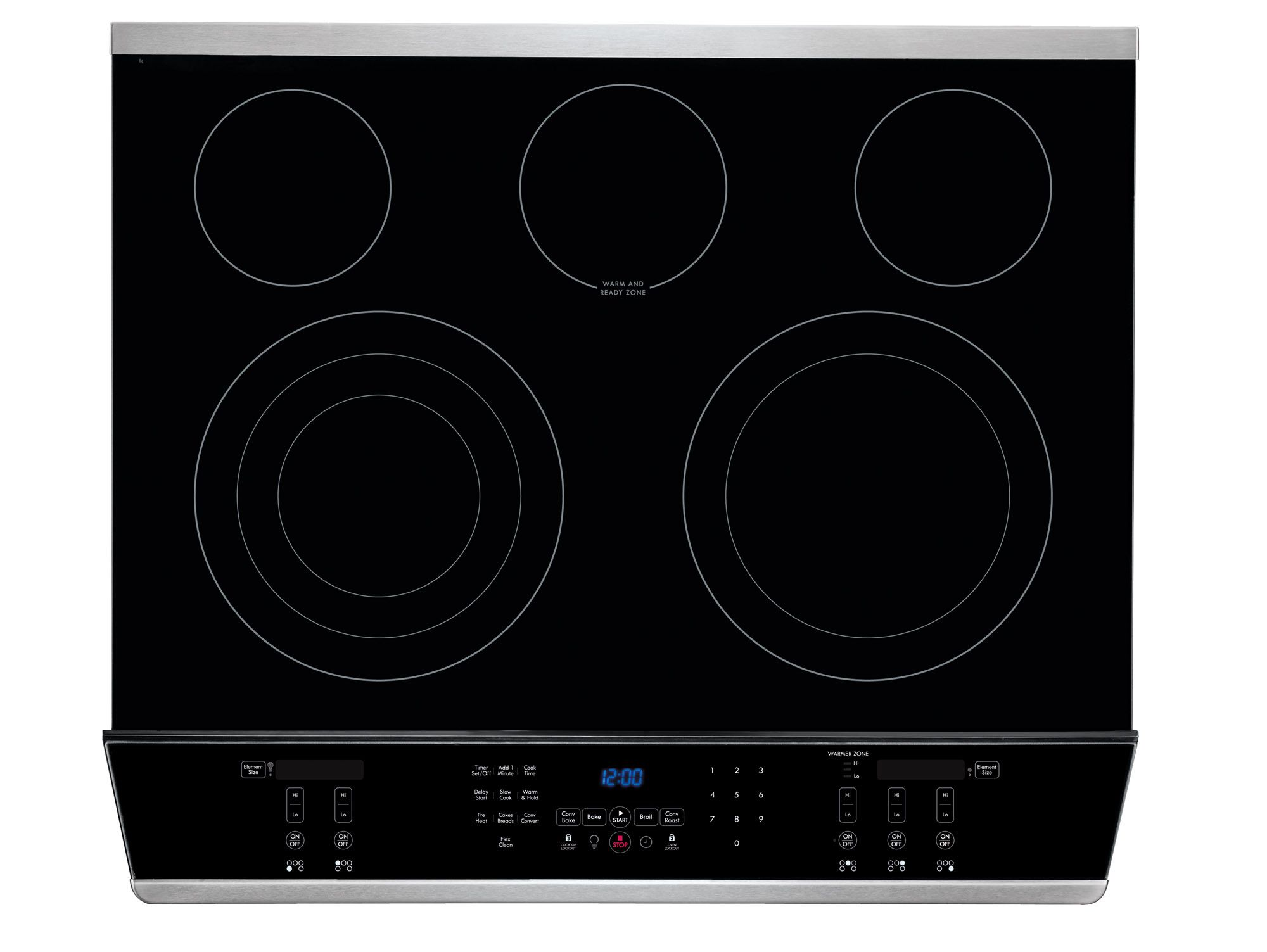 "Kenmore Elite 30"" Slide-In Electric Range w/ Convection - Stainless Steel"