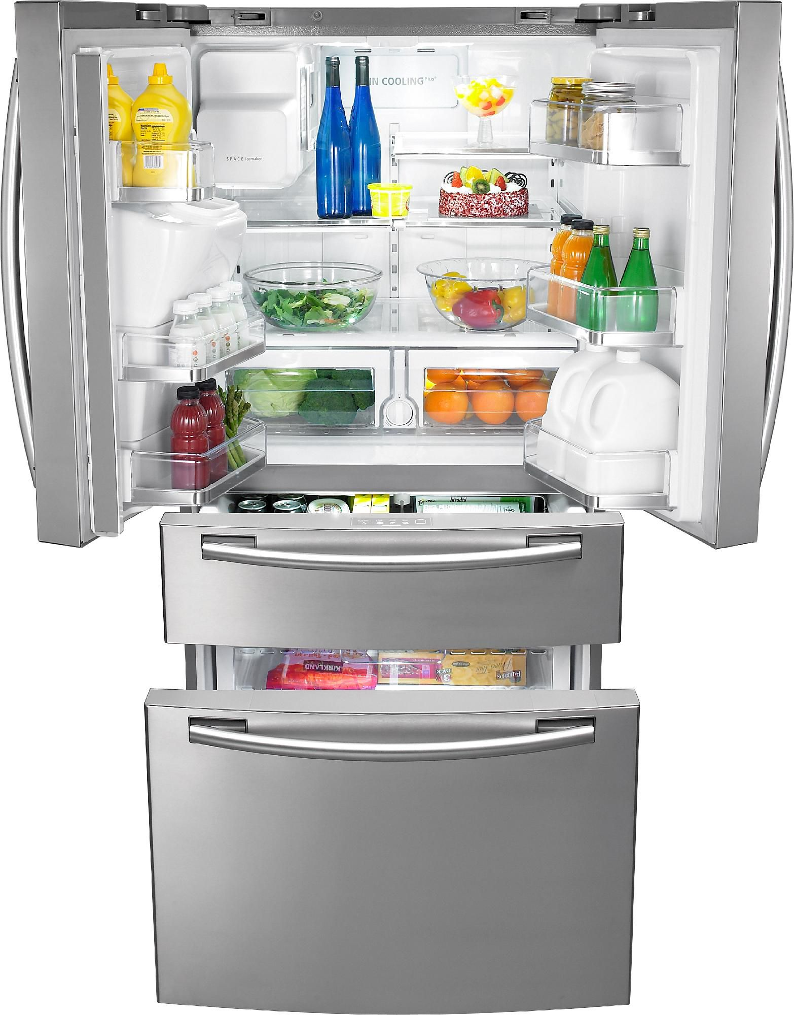 Samsung 26.0 cu. ft. Bottom-Freezer Refrigerator - Stainless Steel