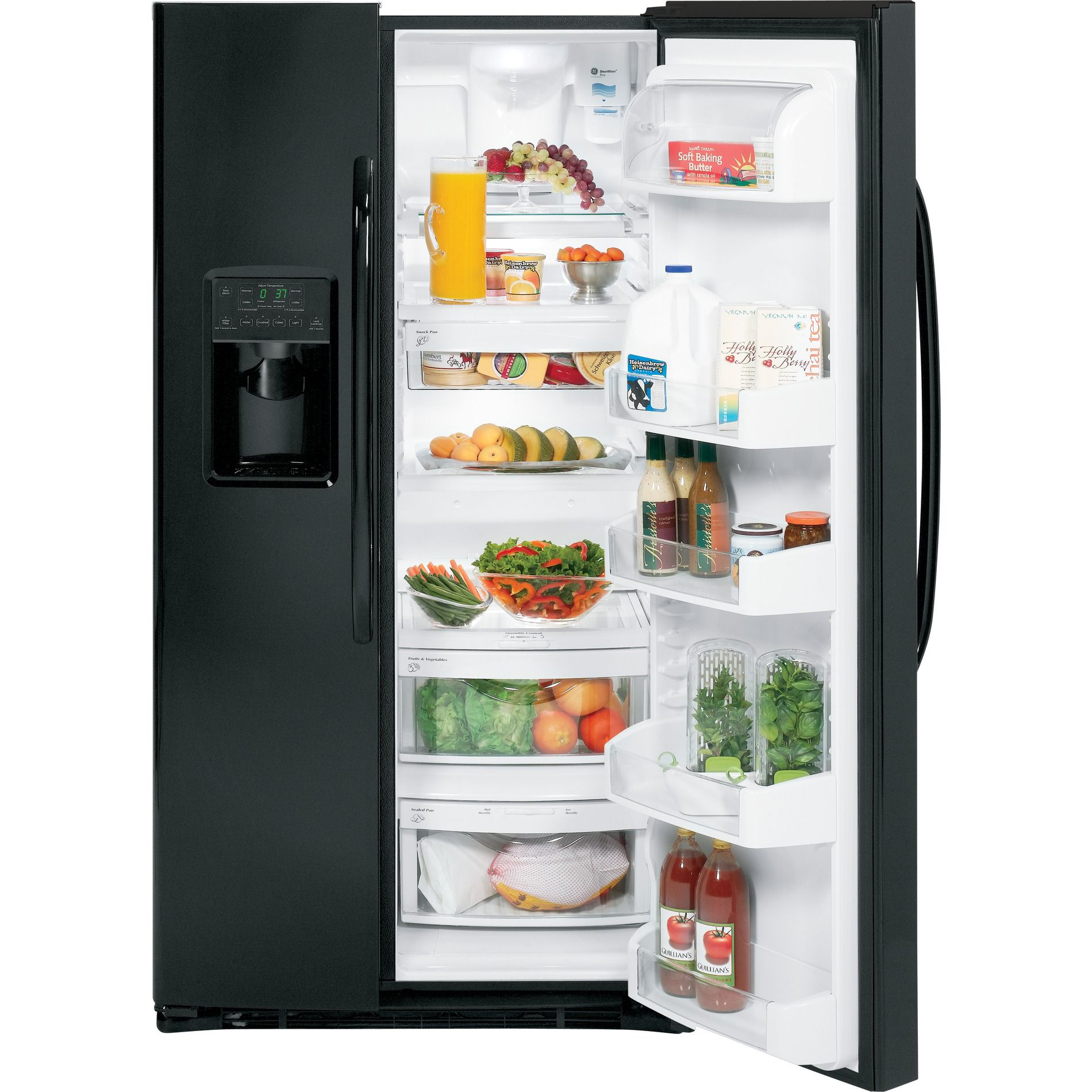 GE 25.9 cu. ft. Side-By-Side Refrigerator - Black