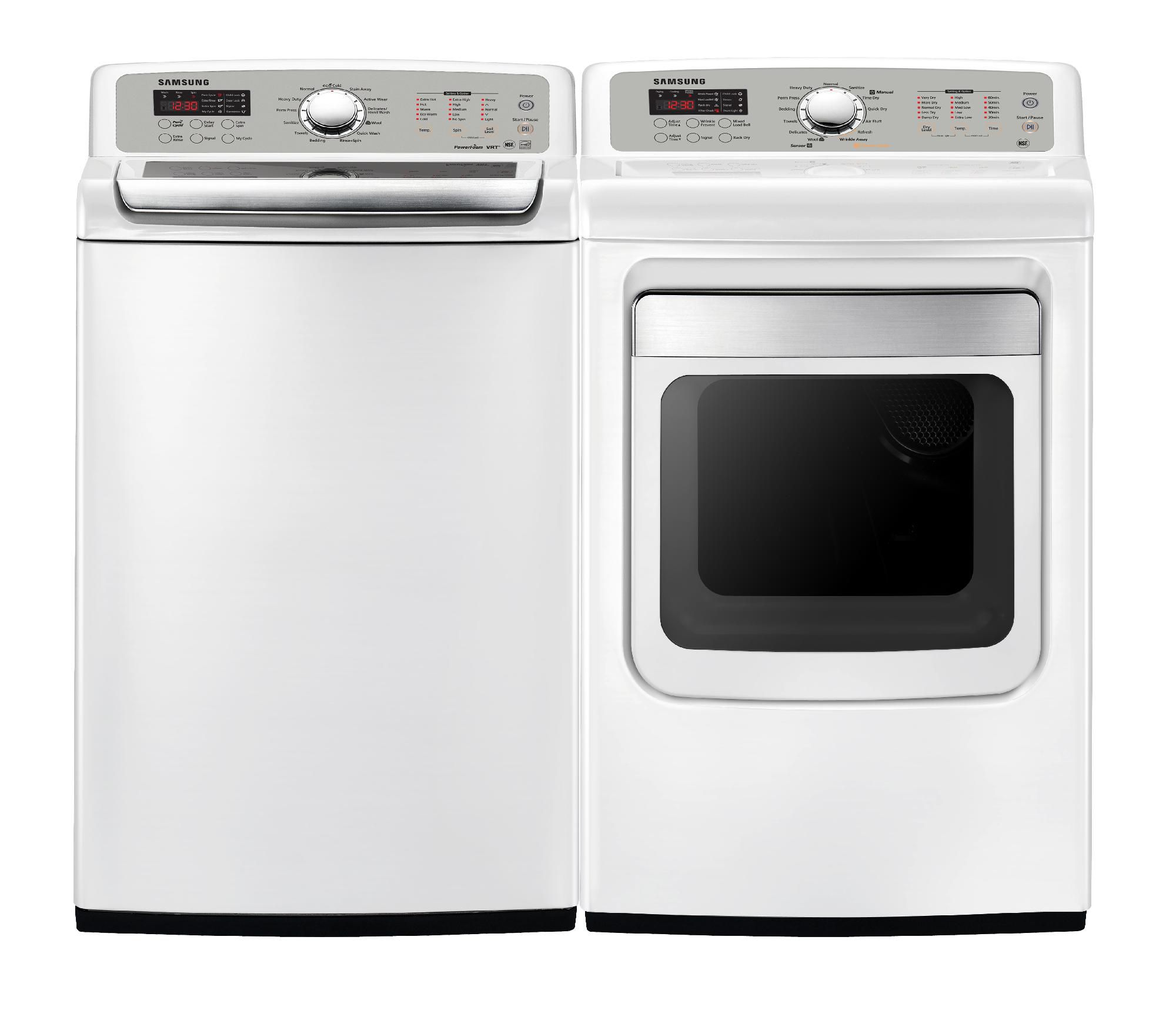 Samsung 7.4 cu. ft. Steam Gas Dryer, White