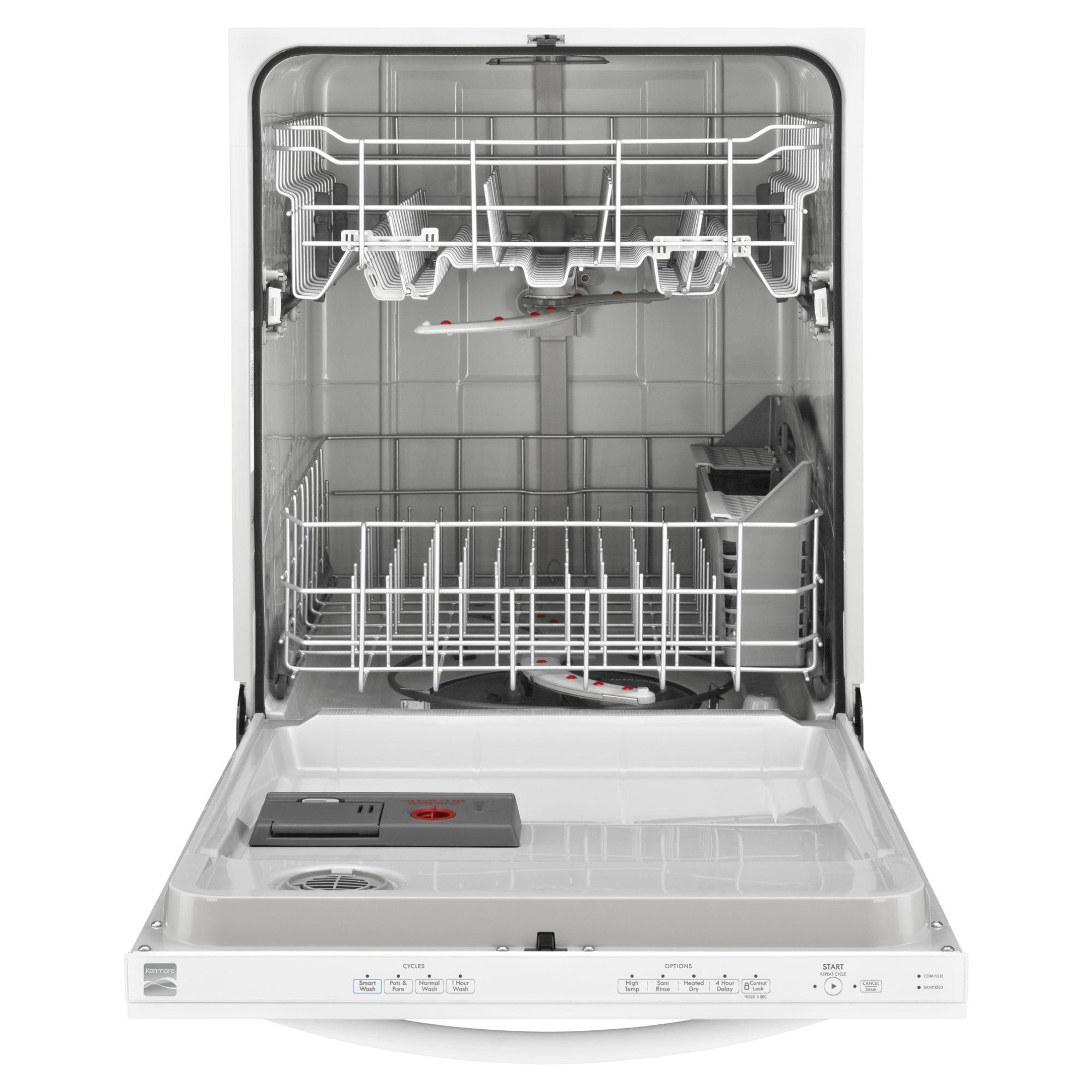 "Kenmore 24"" Built-In Dishwasher - White"