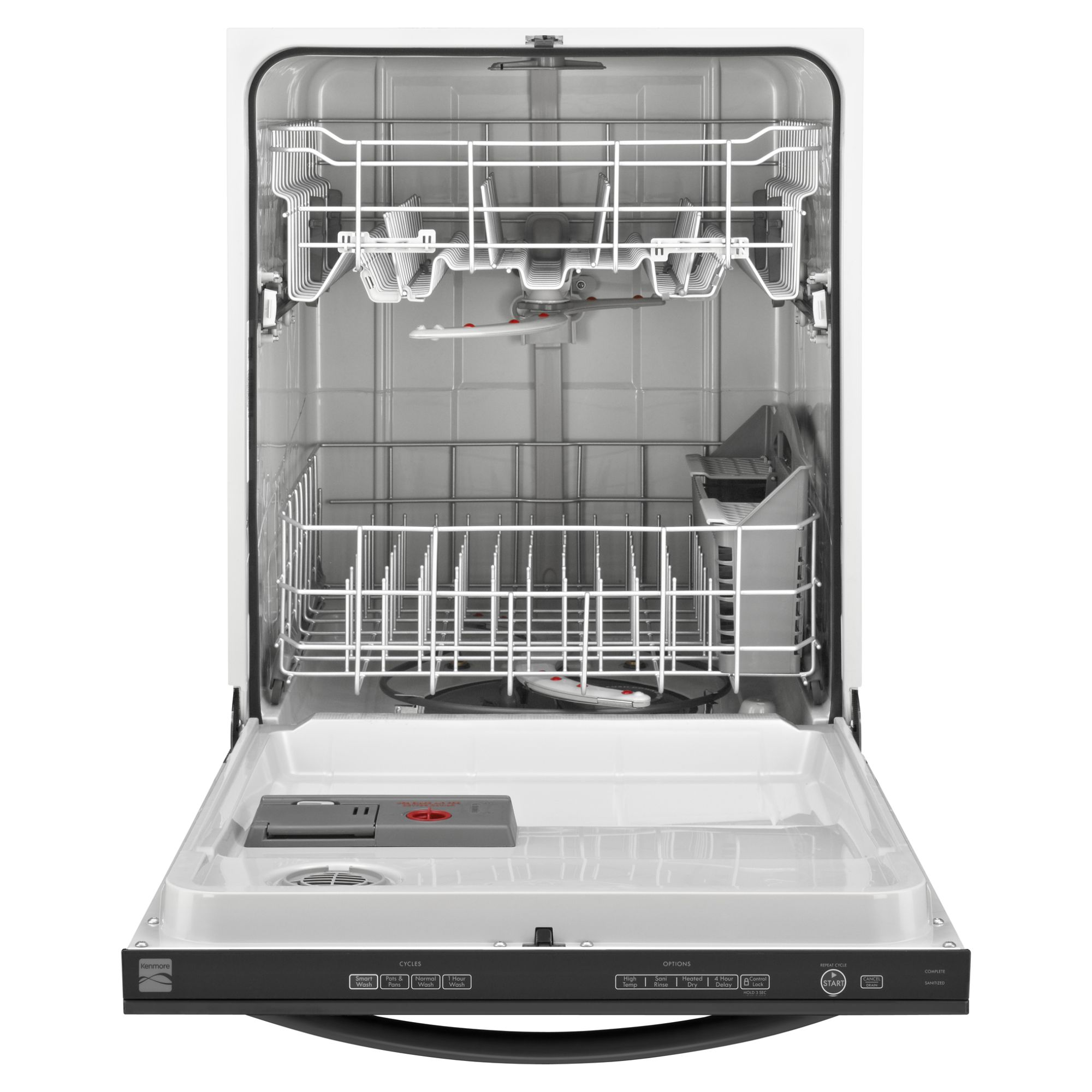 "Kenmore 24"" Built-In Dishwasher - Black"