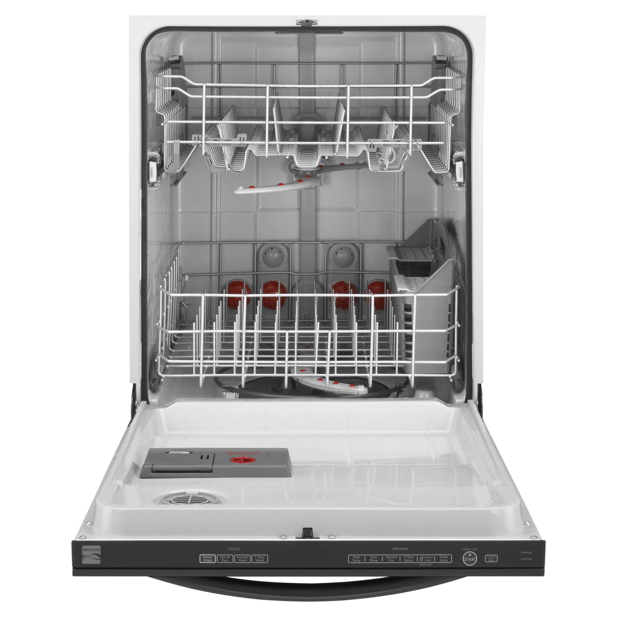 "Kenmore 24"" Built-In Dishwasher w/ TurboZone™  - Black"