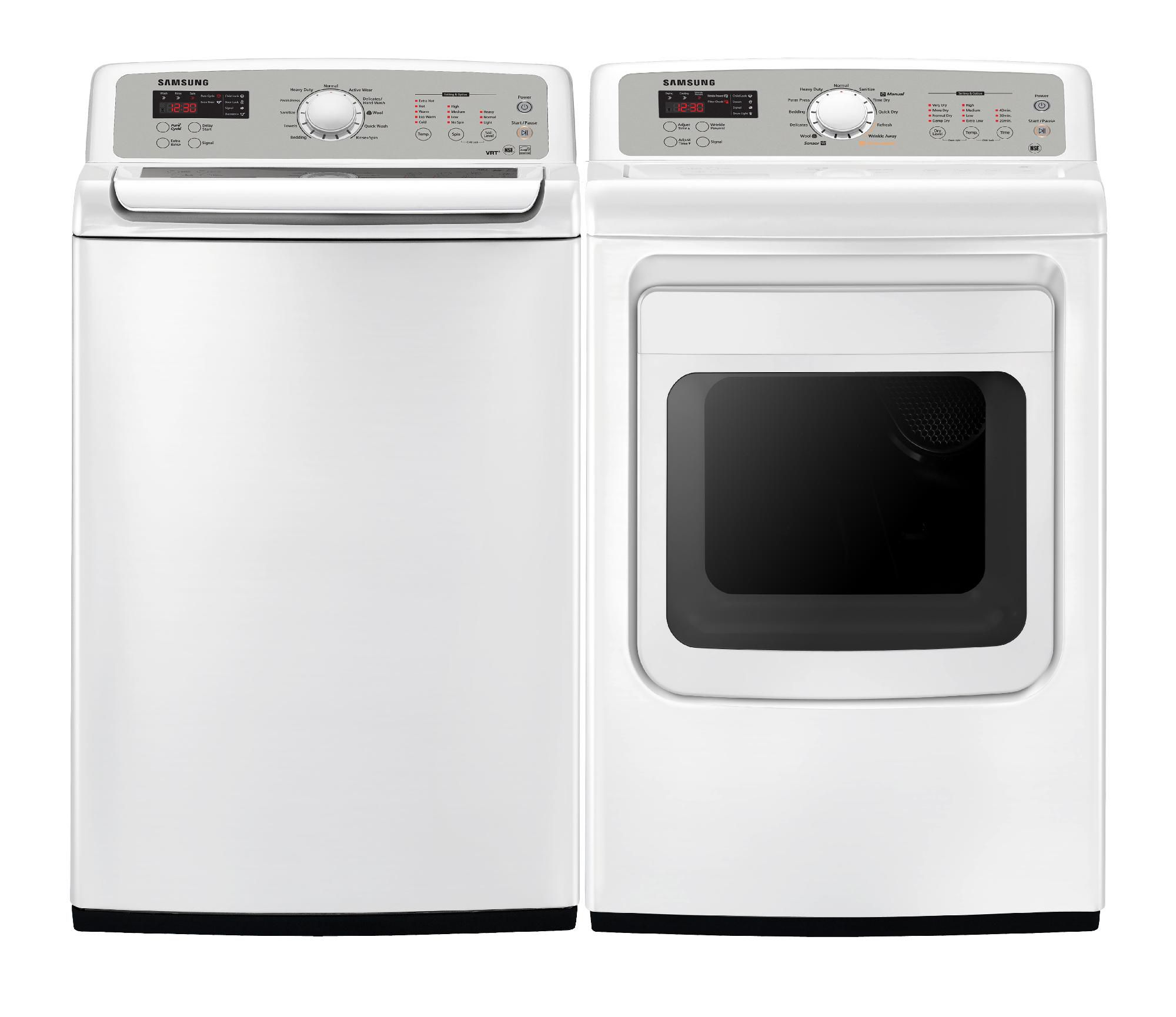 Samsung 7.4 cu. ft. Electric  Steam Dryer - White