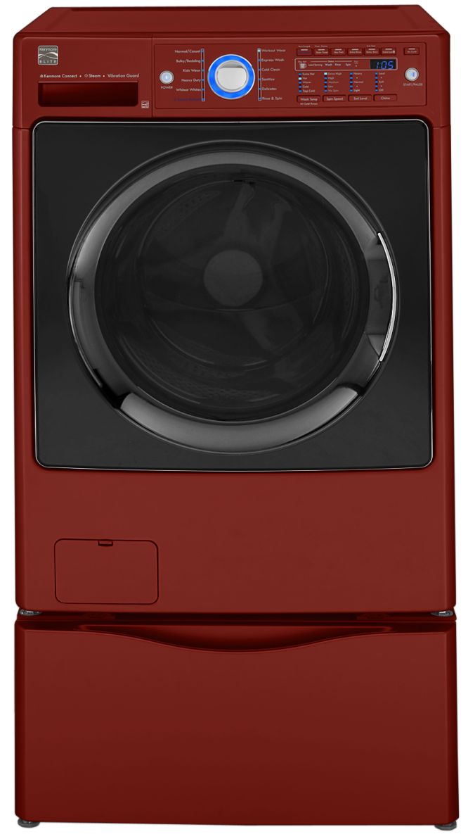 Kenmore Elite 4.3 cu. ft. Front-Load Steam Washer - Chili Pepper