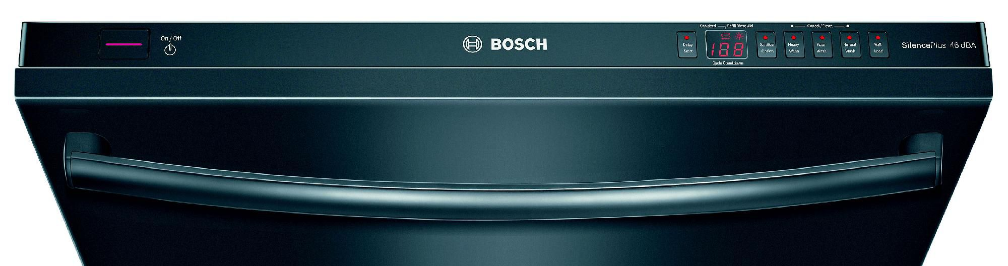 "Bosch 24"" Built-In Dishwasher Black"