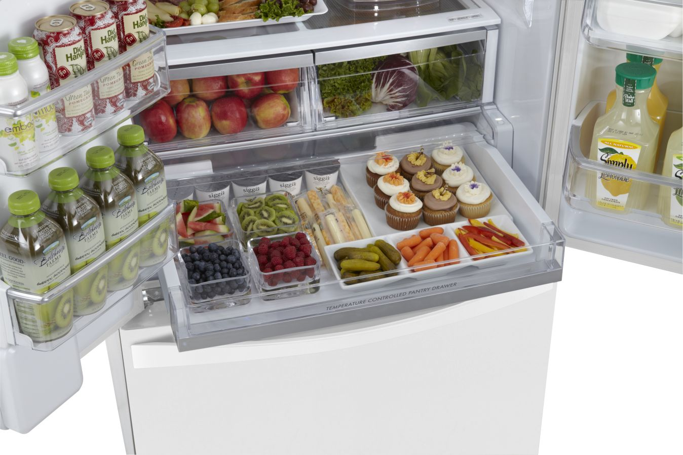 Kenmore Elite 31.0 cu. ft. French Door Bottom-Freezer Refrigerator - White