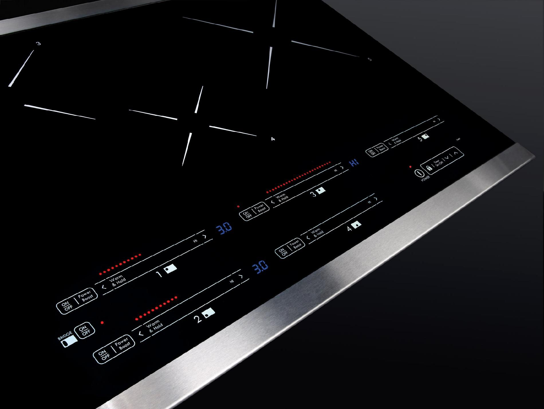"Kenmore Elite 36"" Induction Cooktop Stainless Steel"