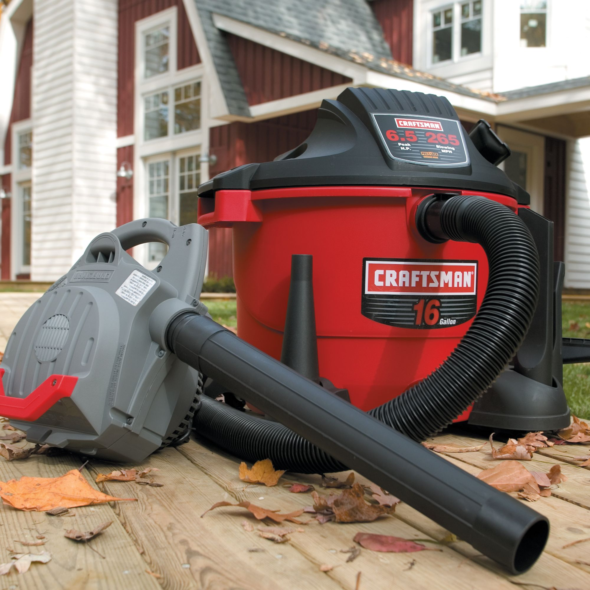 Craftsman 16-gal 6.5-peak hp Wet/Dry Vac with Detachable 265 mph Blower