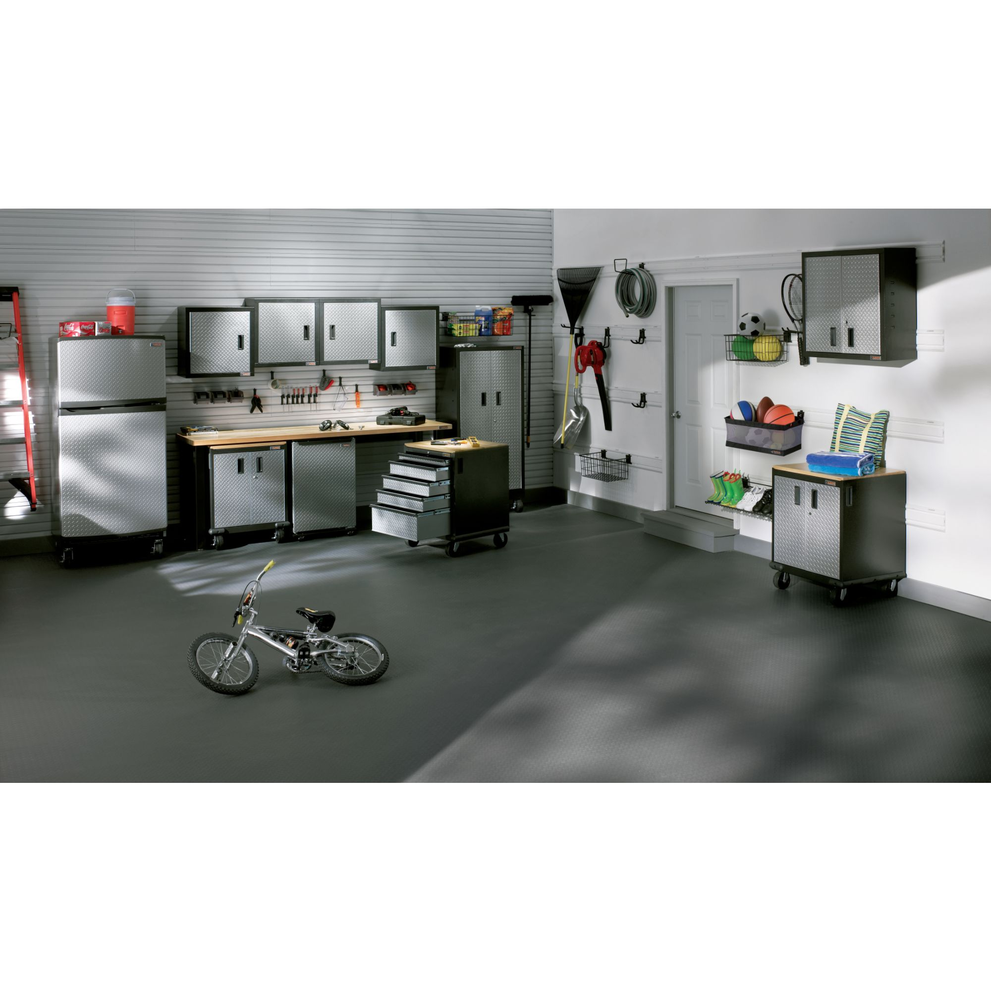 Gladiator 48-Pack Silver Garage Floor Tile