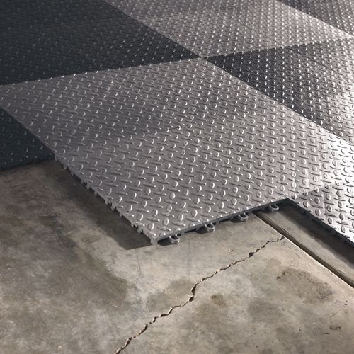 Gladiator Silver Floor Tiles Flooring (48-Pack)