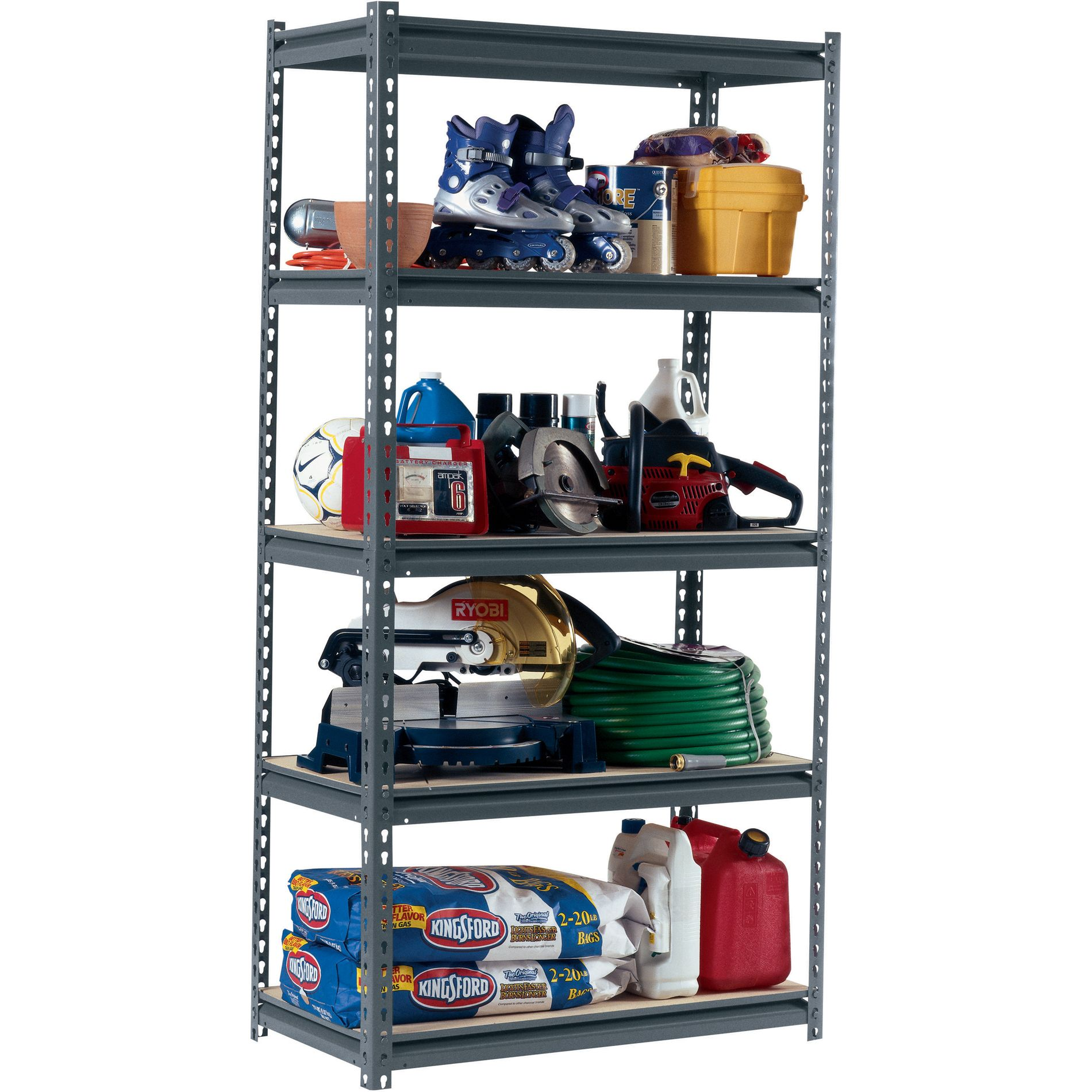 Edsal 5-Shelf Heavy Duty Steel Shelving