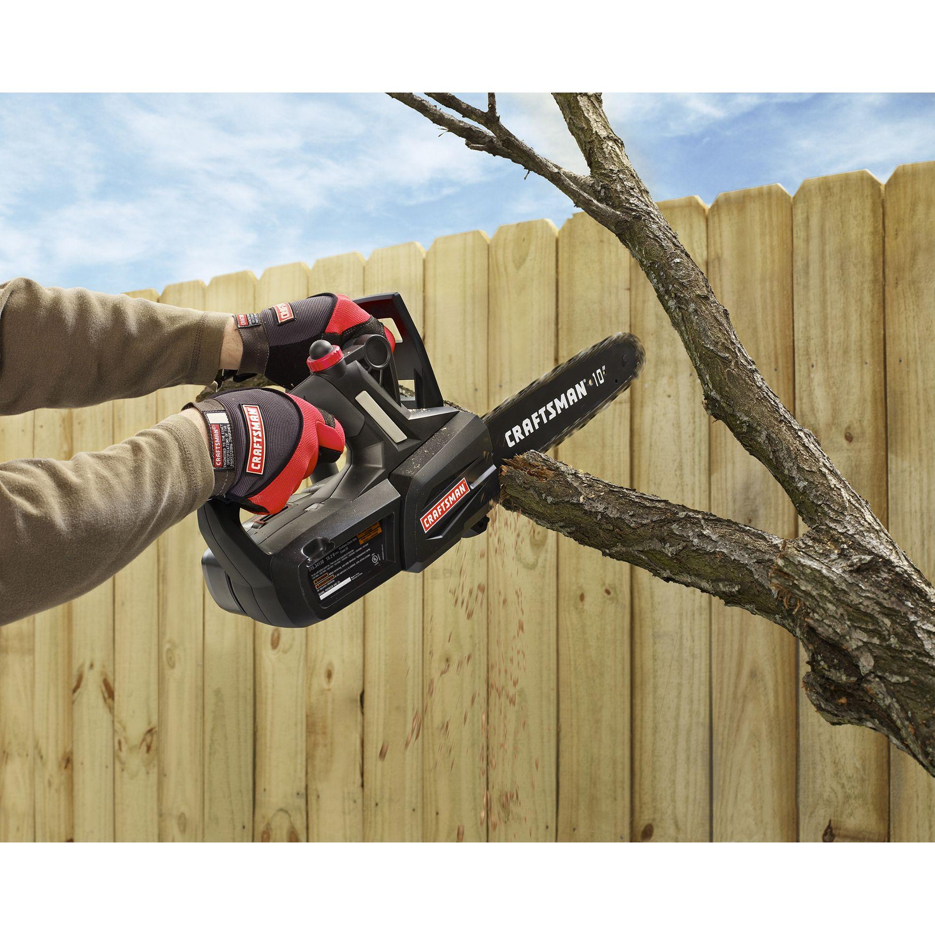 "Craftsman 19.2 Volt 10"" Cordless Chain Saw"