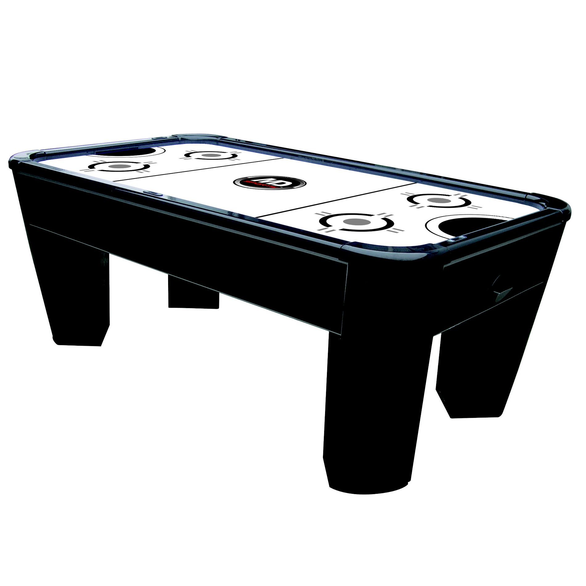 MD Sports 7ft Power Play Air Powered Hockey Table w/ BONUS Electronic Dartboard/Cabinet