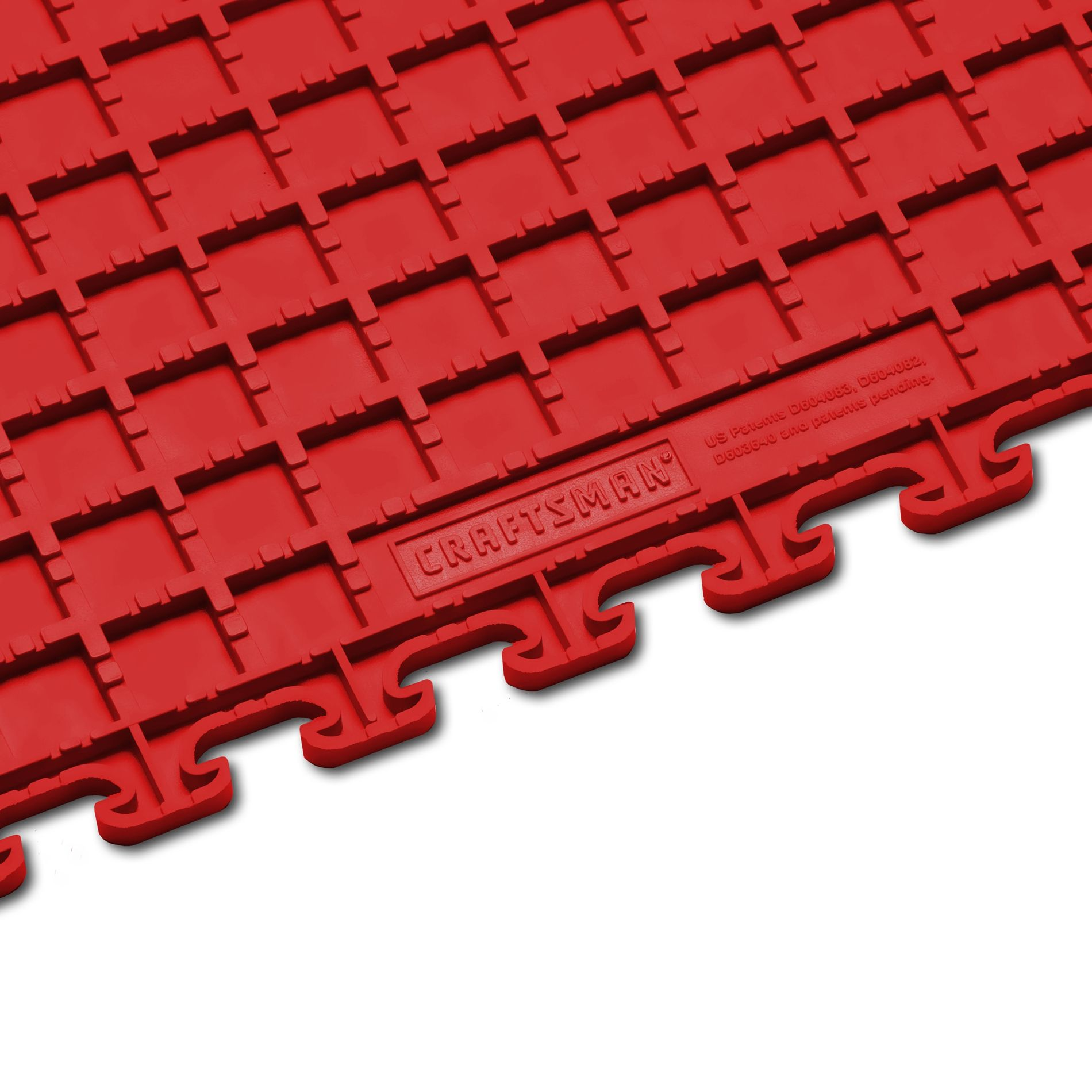 Craftsman Red PVC Multi-Purpose Raised Coin Garage Flooring