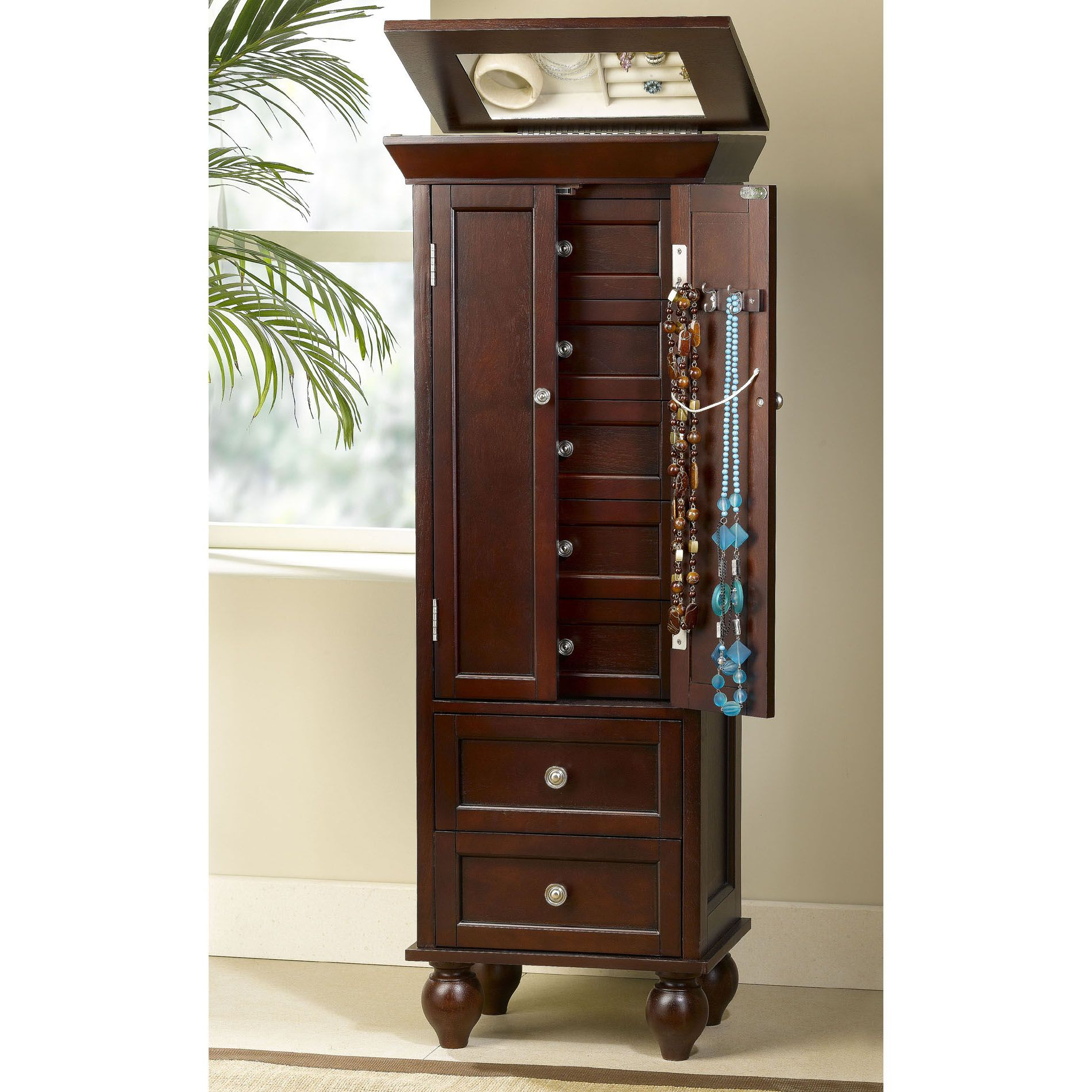 Jewelry Armoire Espresso Finish